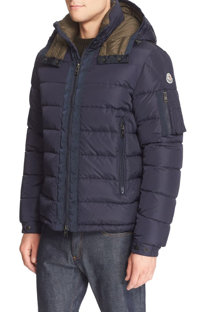 moncler 39 danube 39 quilted down jacket nordstrom. Black Bedroom Furniture Sets. Home Design Ideas