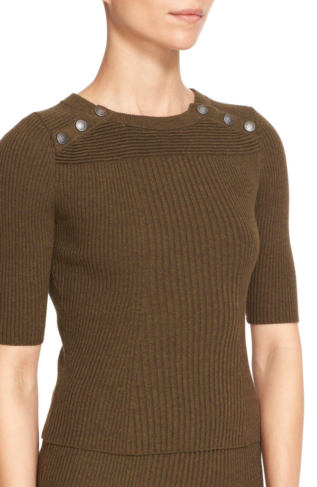 Alternate Image 4  - Free People 'Little Minx' Cotton Sweater & Miniskirt