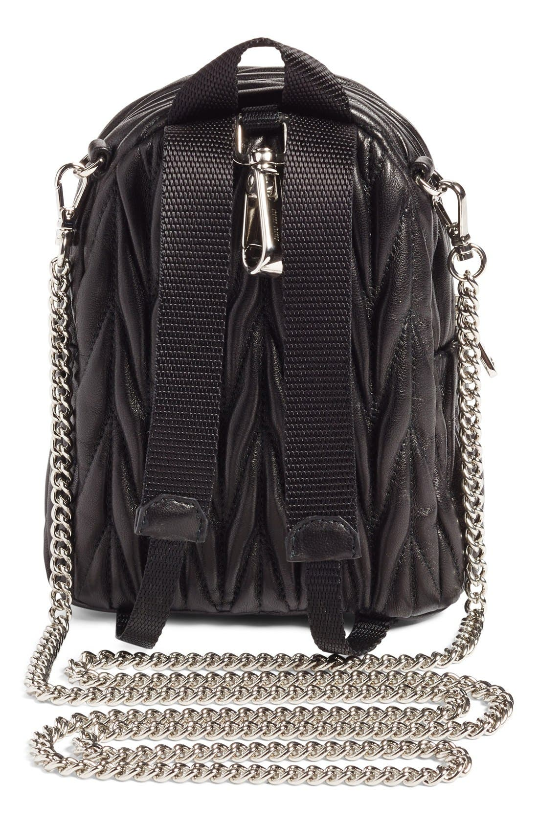Alternate Image 3  - Miu Miu Micro Matelassé Leather Backpack