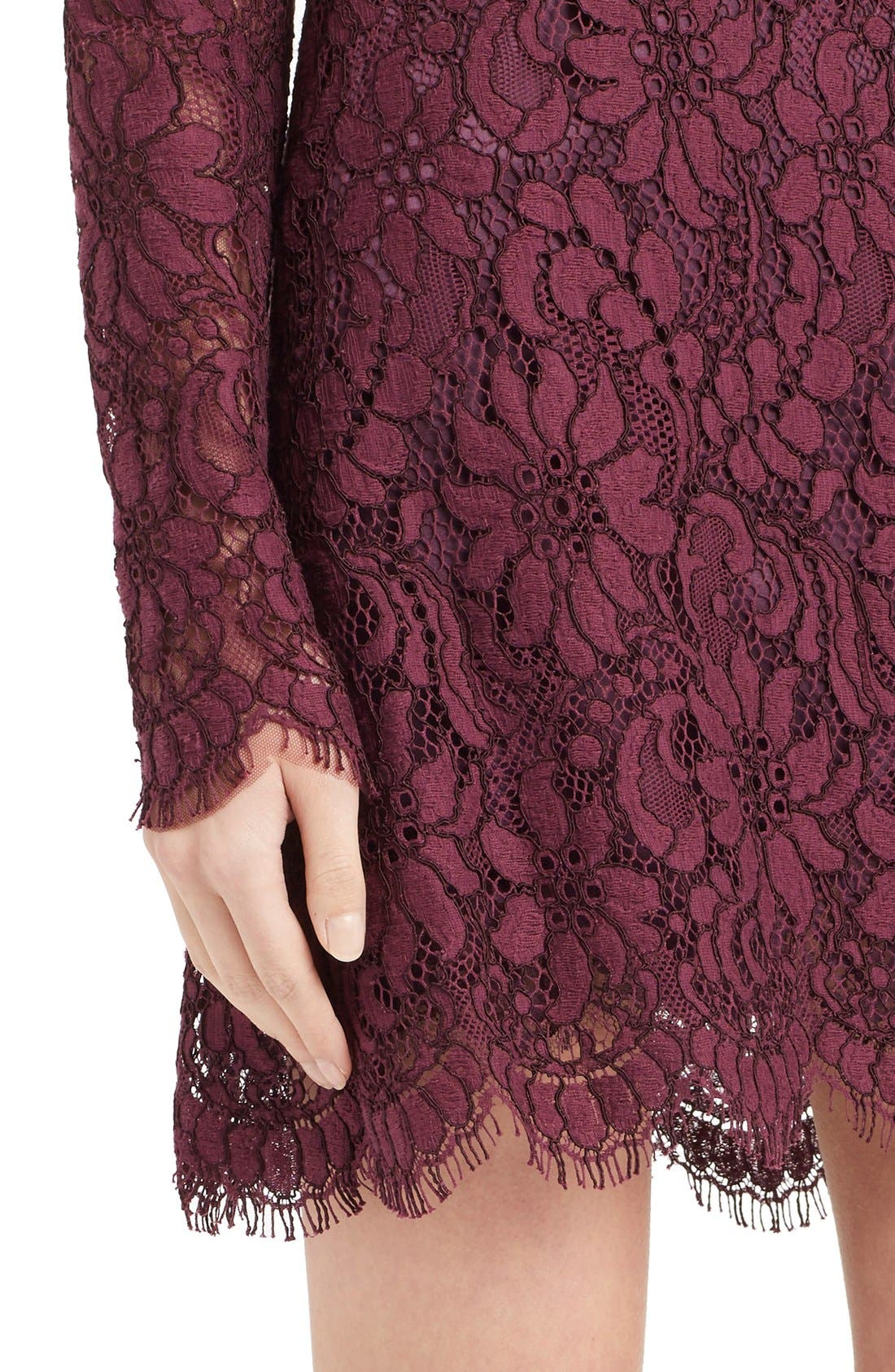 Alternate Image 6  - Dolce&Gabbana Scoop Neck Lace Shift Dress