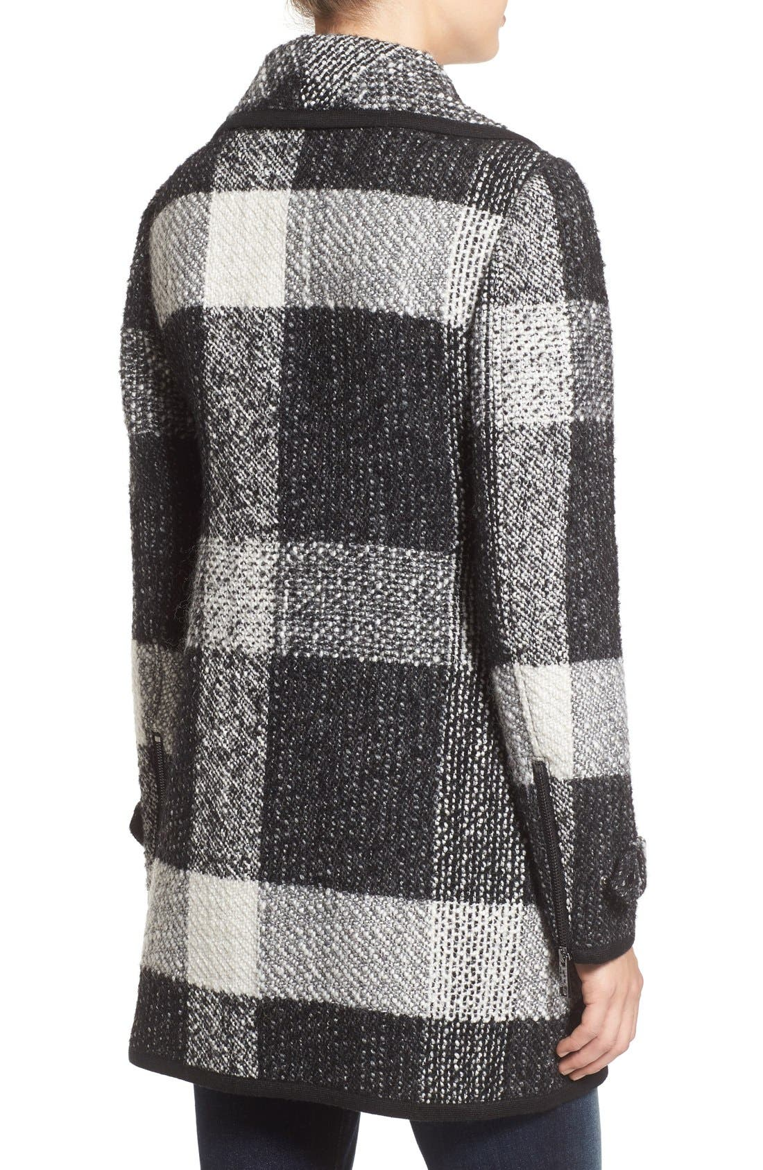 Alternate Image 2  - GUESS Shawl Collar Plaid Coat