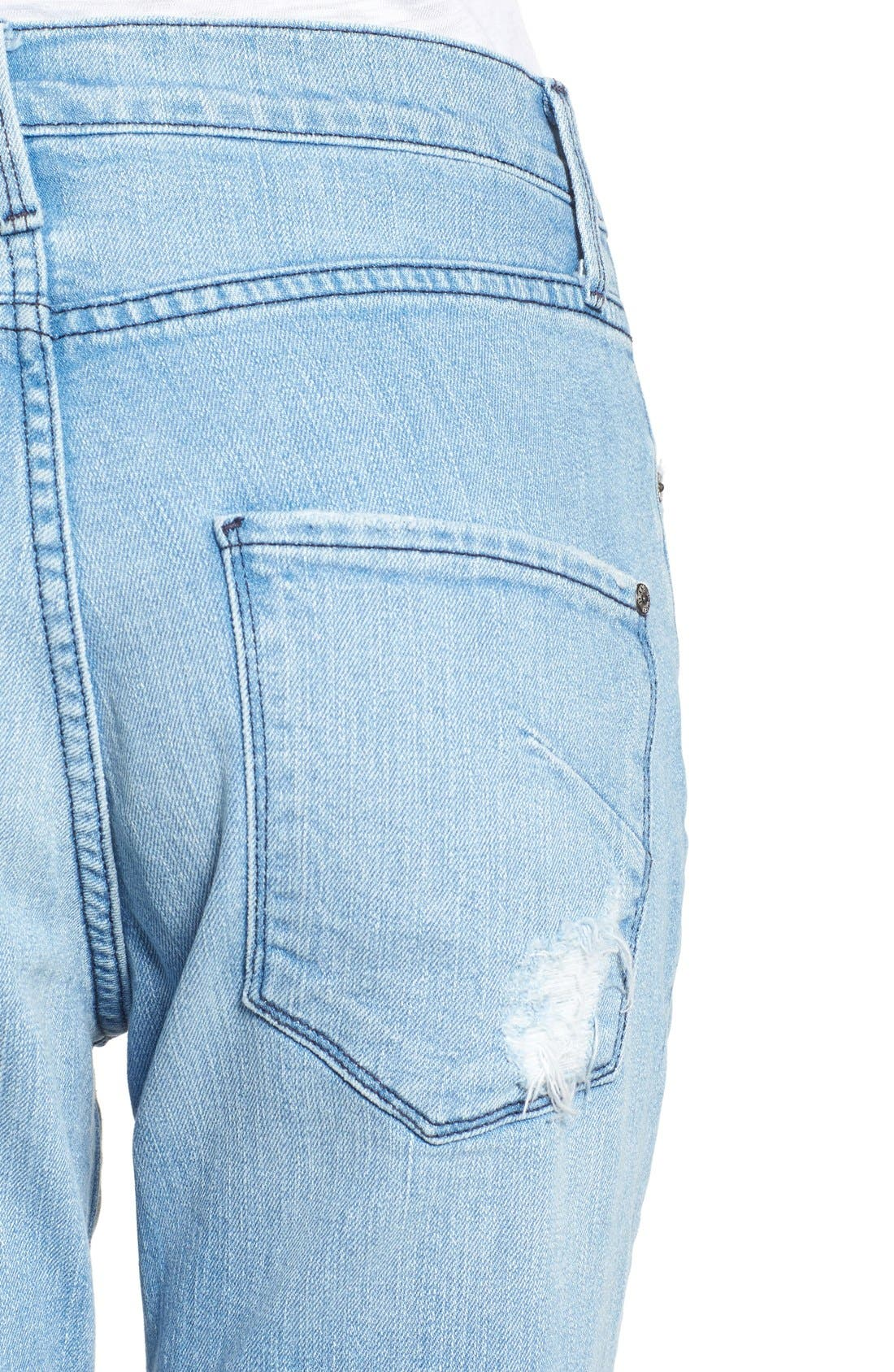 Alternate Image 4  - James Jeans Distressed Bermuda Shorts (Joy Ride)