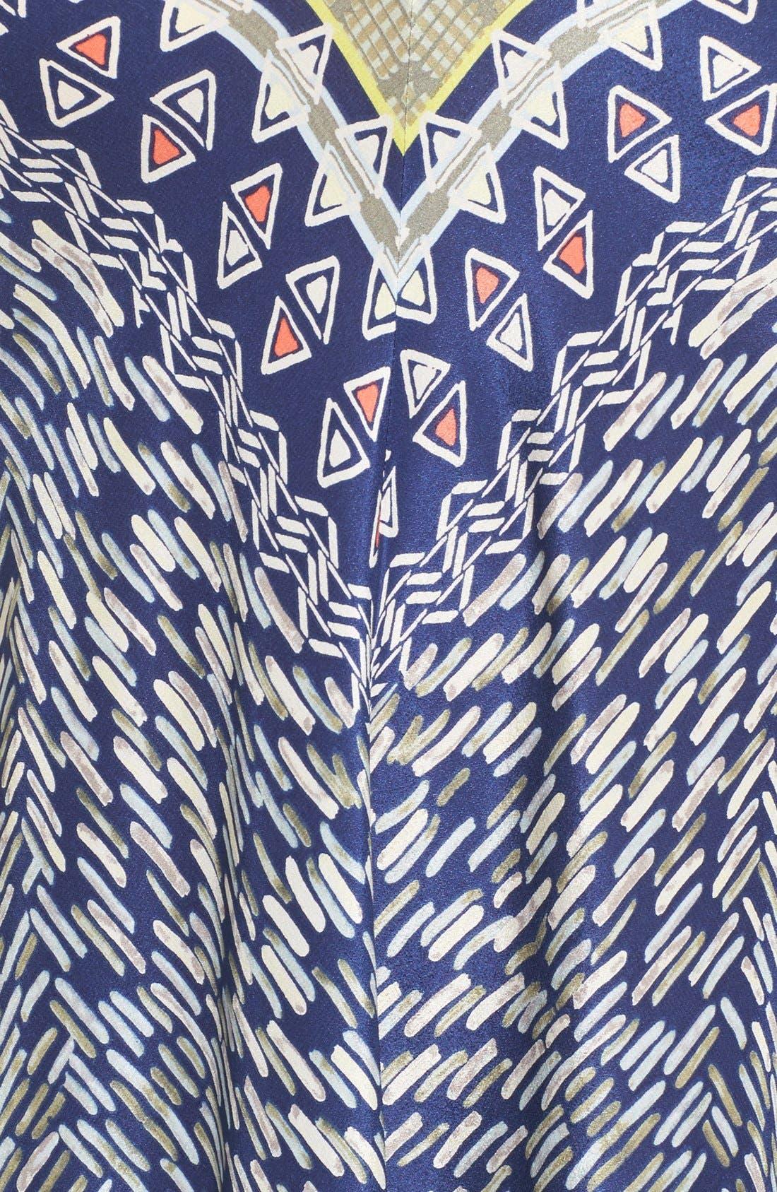 Alternate Image 5  - NIC+ZOE 'Tropicale' Print Handkerchief Hem Silk Sundress (Regular & Petite)