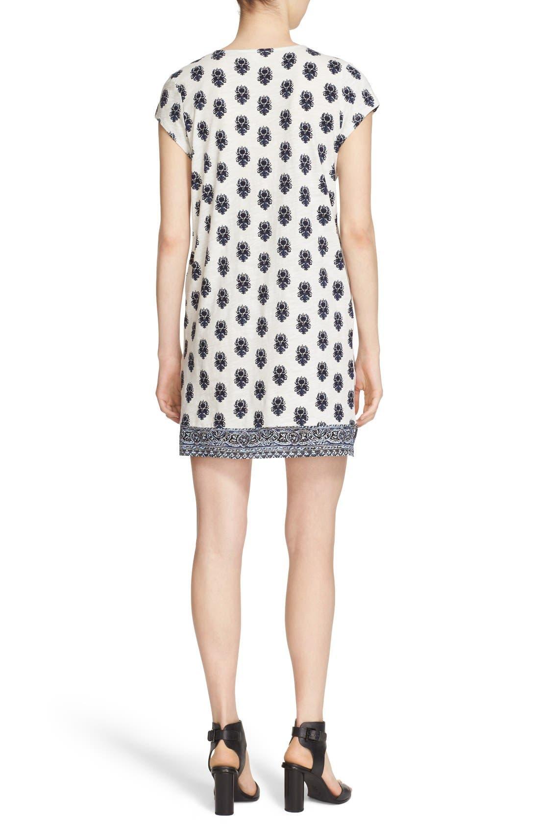 Alternate Image 2  - Soft Joie 'Gadhi' Border Print Split Neck Shift Dress