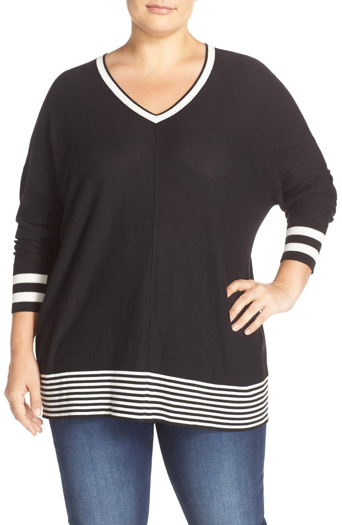 Alternate Image 1 Selected - Sejour Dolman Sleeve Wedge Sweater (Plus Size)