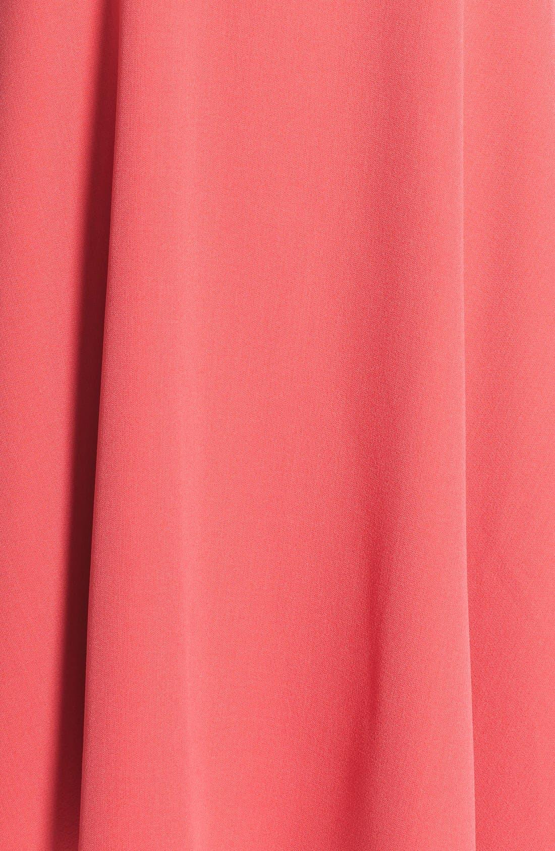 Alternate Image 6  - Adrianna Papell Split Neck Swing Dress