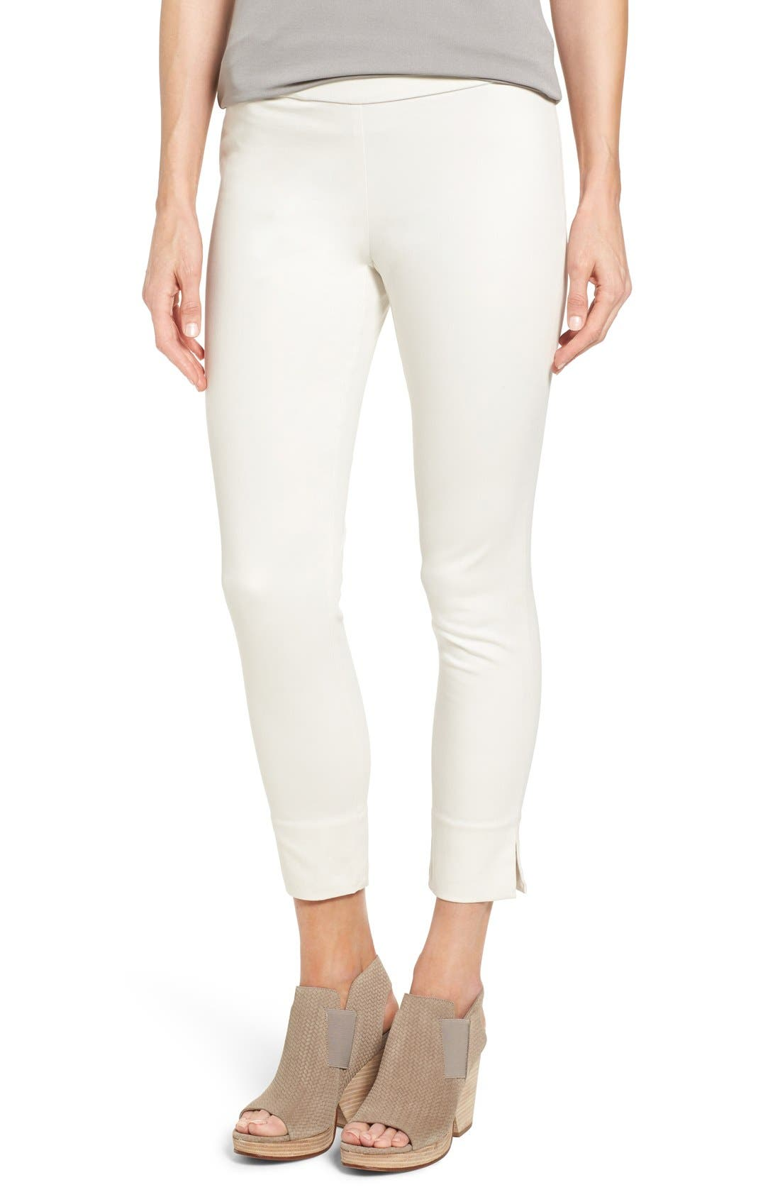 Eileen Fisher Slim Stretch Cotton Crop Pants