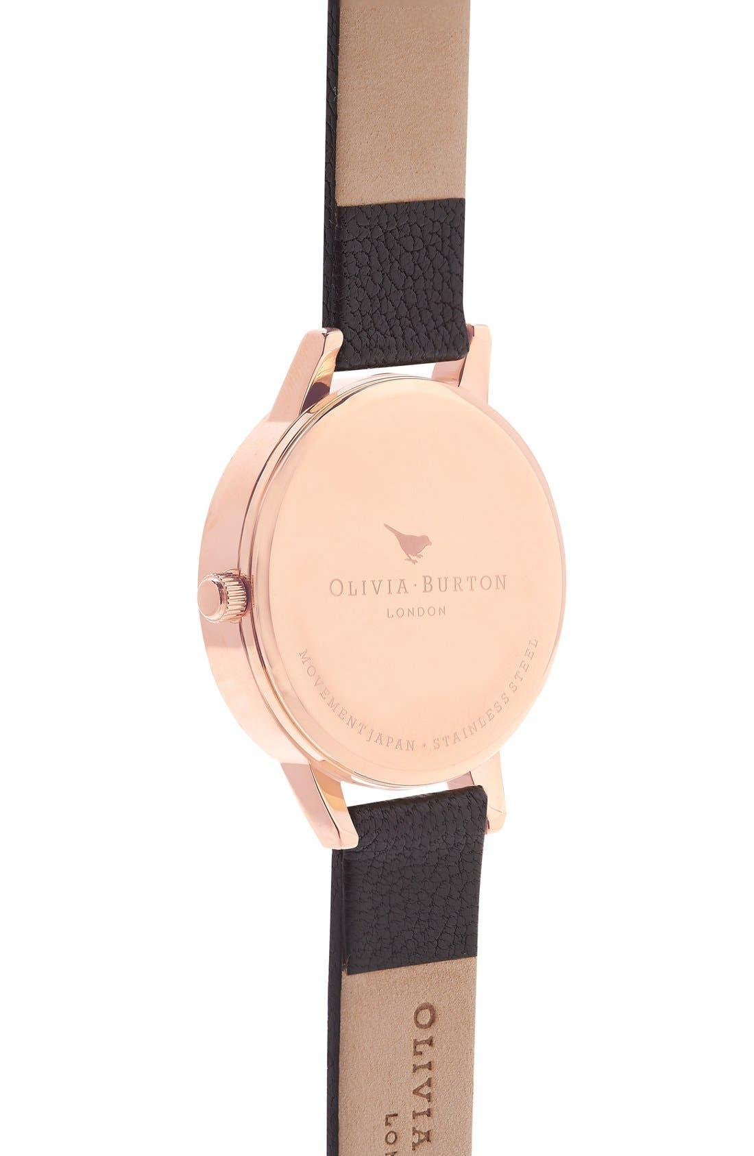 Alternate Image 3  - Olivia Burton 'Midi Dial' Leather Strap Watch, 30mm