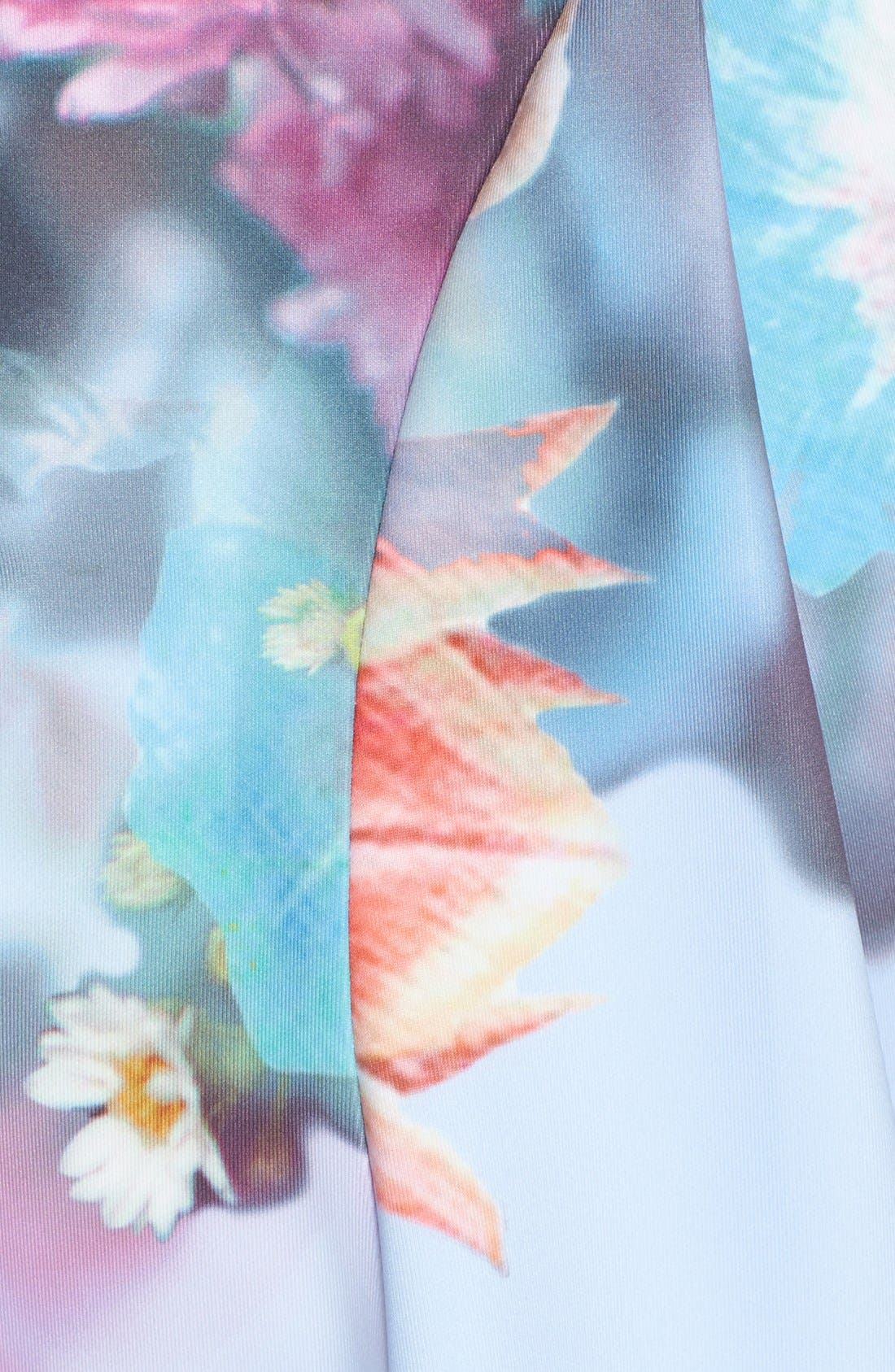 Alternate Image 5  - Ted Baker London 'Bowkay' Floral Print Neoprene Skater Dress