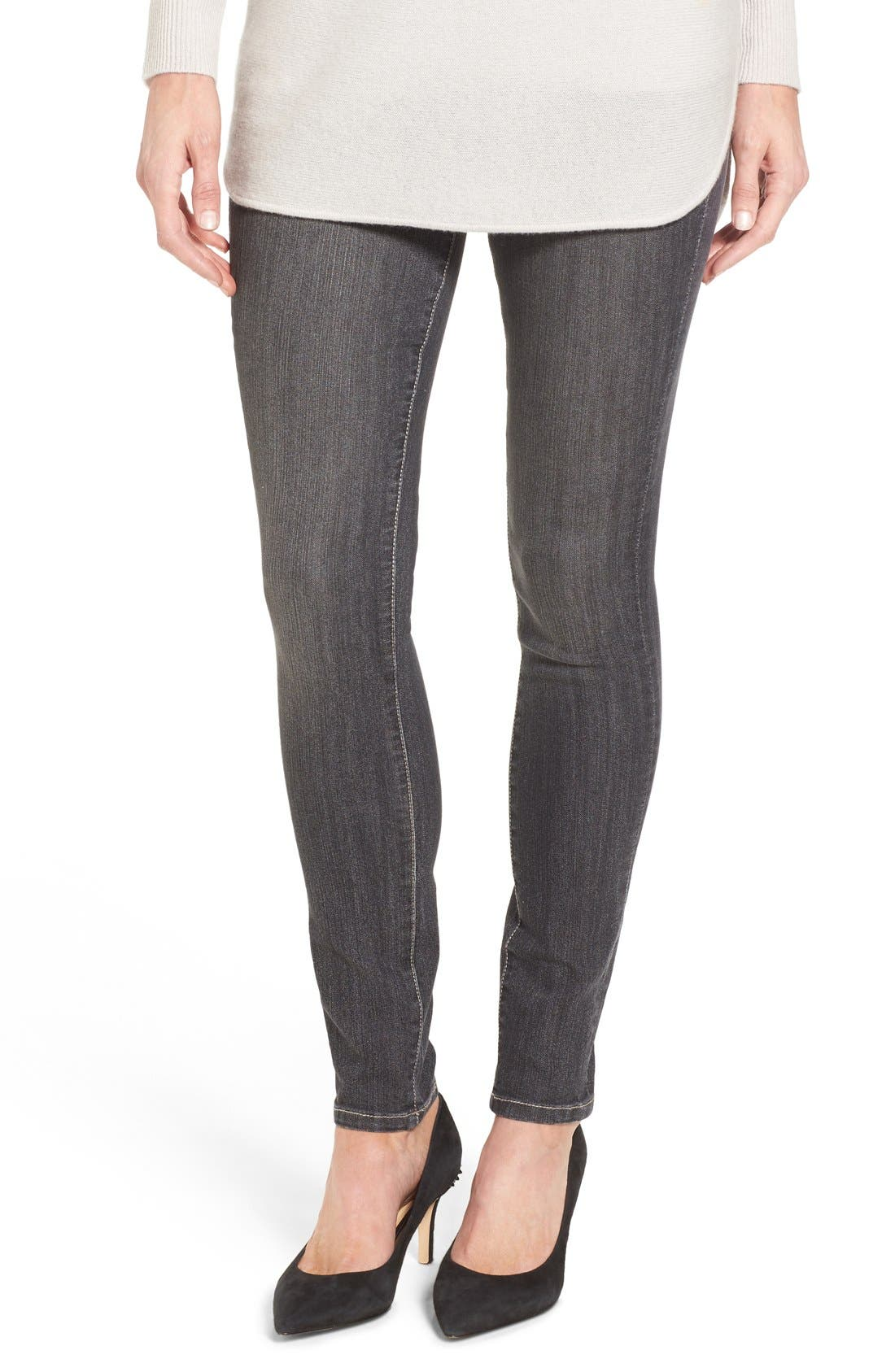 Jag Jeans Nora Pull-On Stretch Skinny Jeans (Thunder Grey) (Regular & Petite)