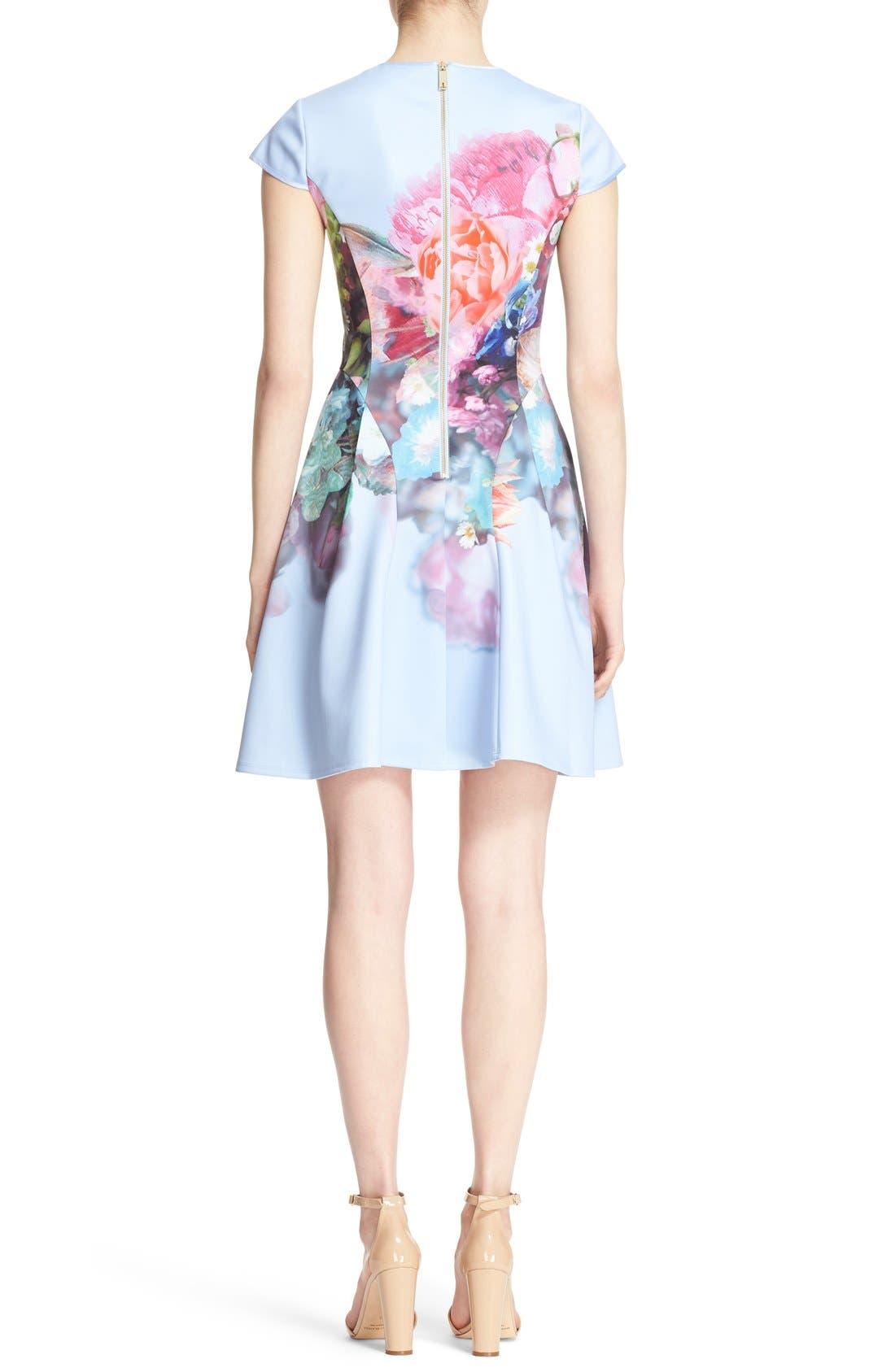 Alternate Image 2  - Ted Baker London 'Bowkay' Floral Print Neoprene Skater Dress