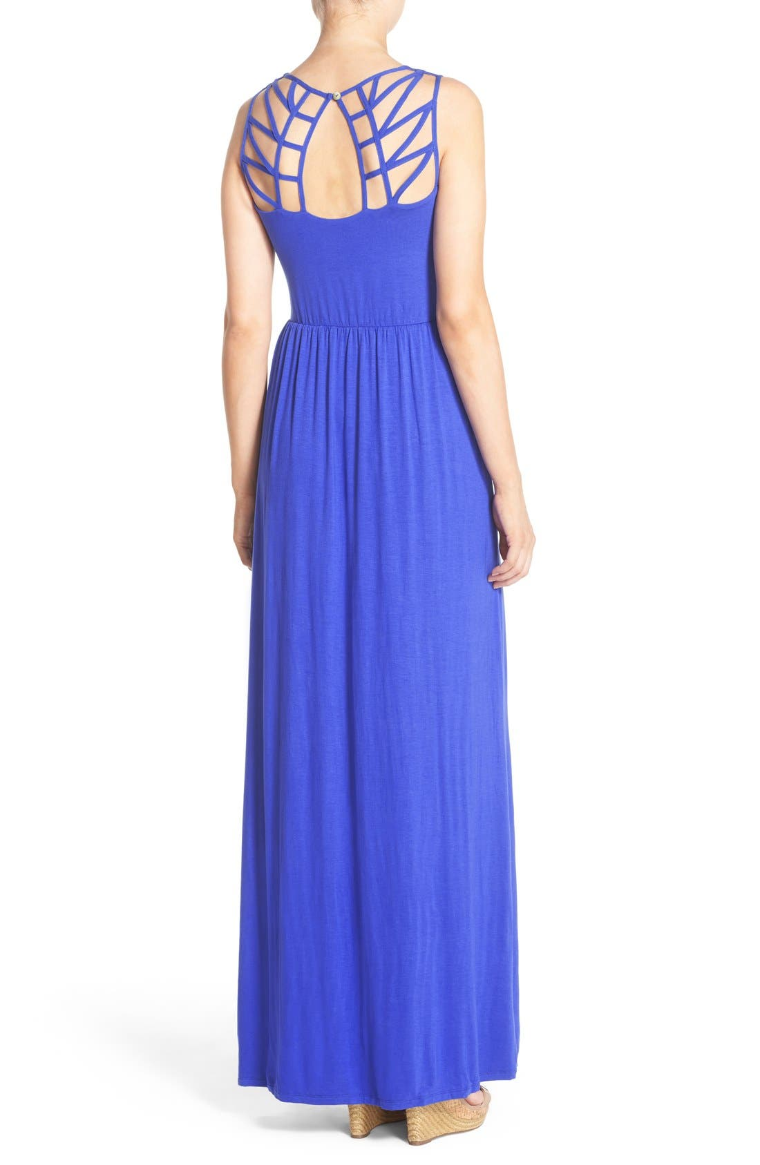 Alternate Image 2  - Felicity & Coco Jersey Strappy Back Maxi Dress (Regular & Petite) (Nordstrom Exclusive)