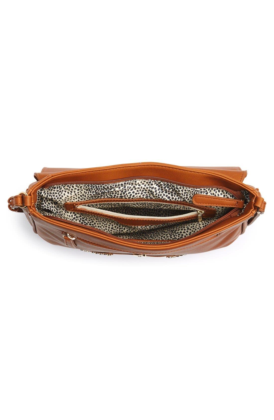 Alternate Image 4  - Emperia 'Larissa' Studded Flap Faux Leather Crossbody Bag