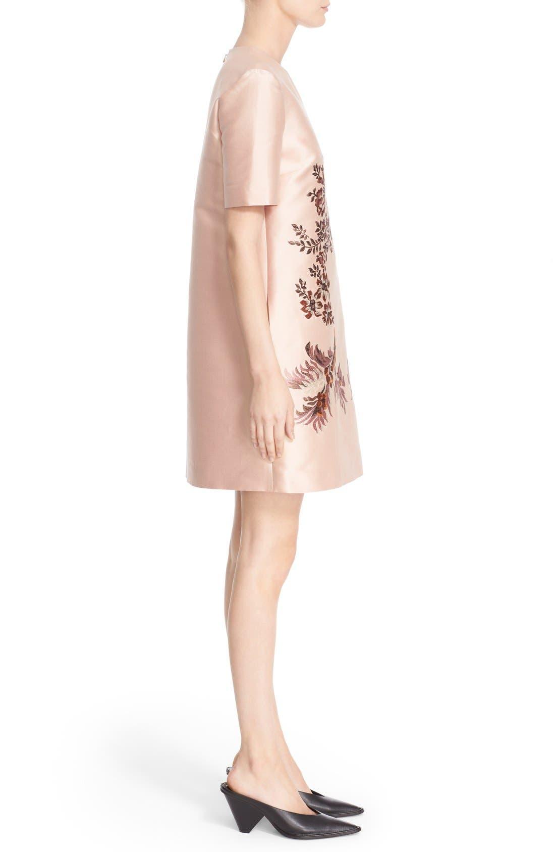 Alternate Image 5  - Stella McCartney Floral Embroidered Satin Shift Dress