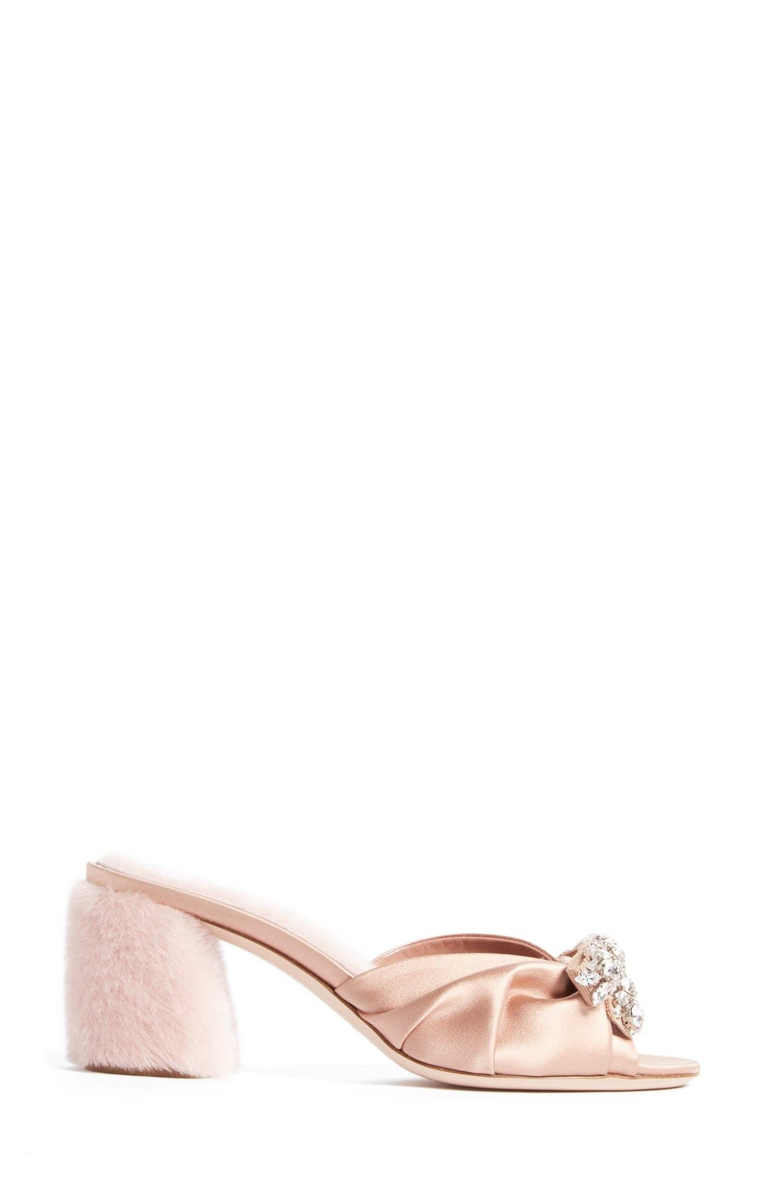 Alternate Image 3  - Miu Miu Crystal Embellished Slide Sandal (Women)