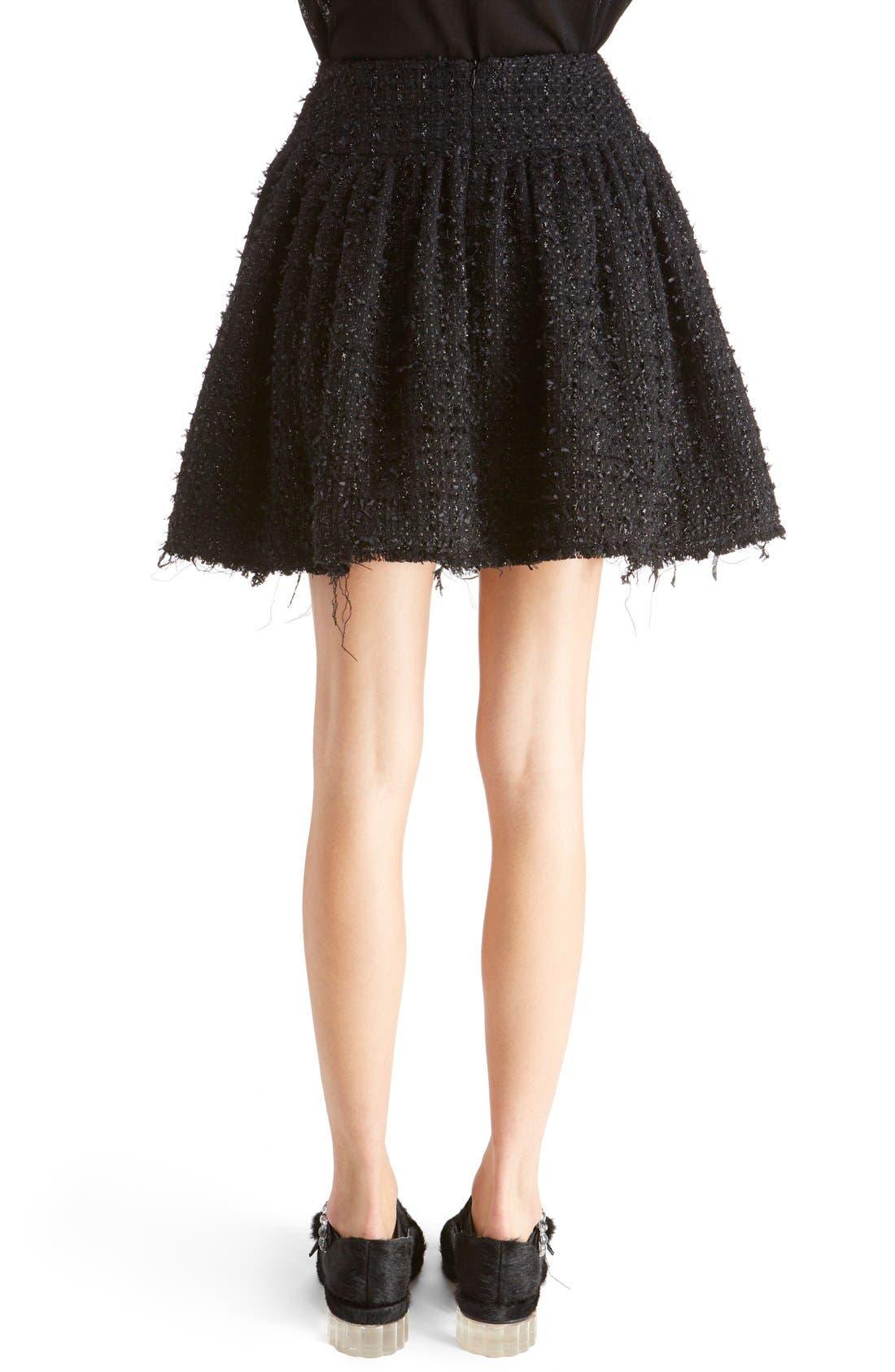 Alternate Image 2  - Simone Rocha Gathered Tweed Miniskirt