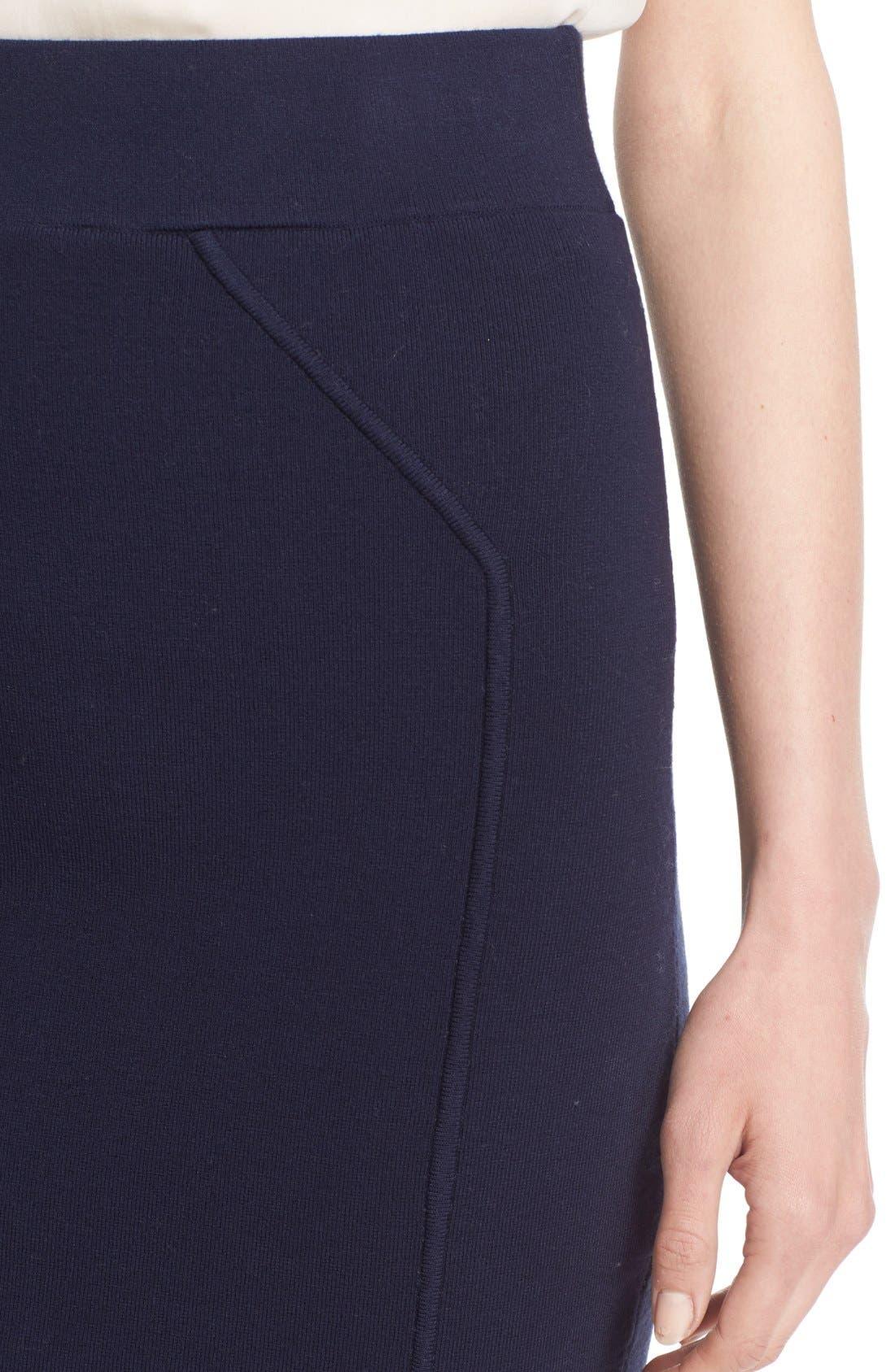 Alternate Image 4  - Milly Structured Side Slit Skirt