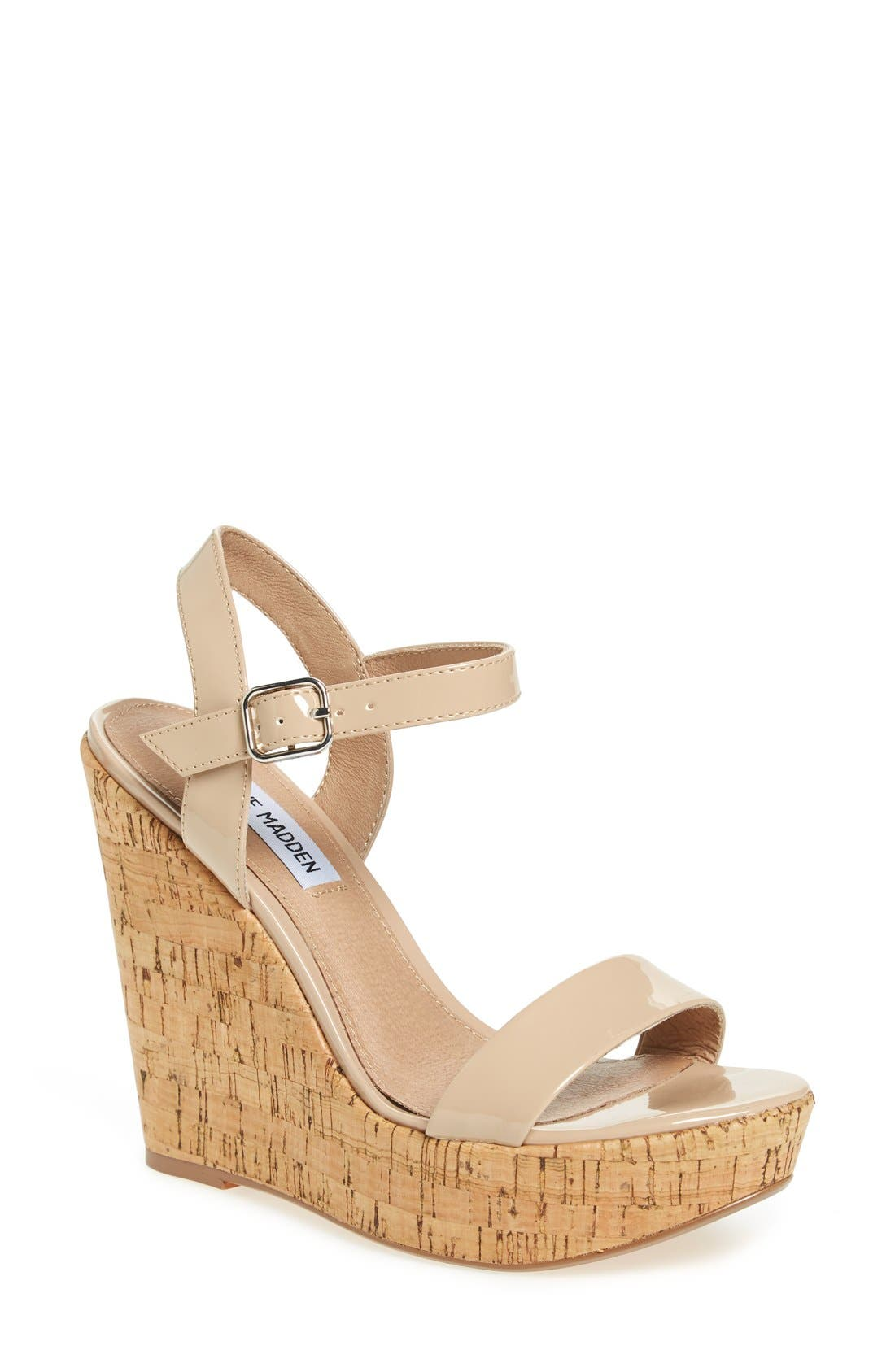 Alternate Image 1 Selected - Steve Madden 'Ellina' Wedge Sandal (Women)