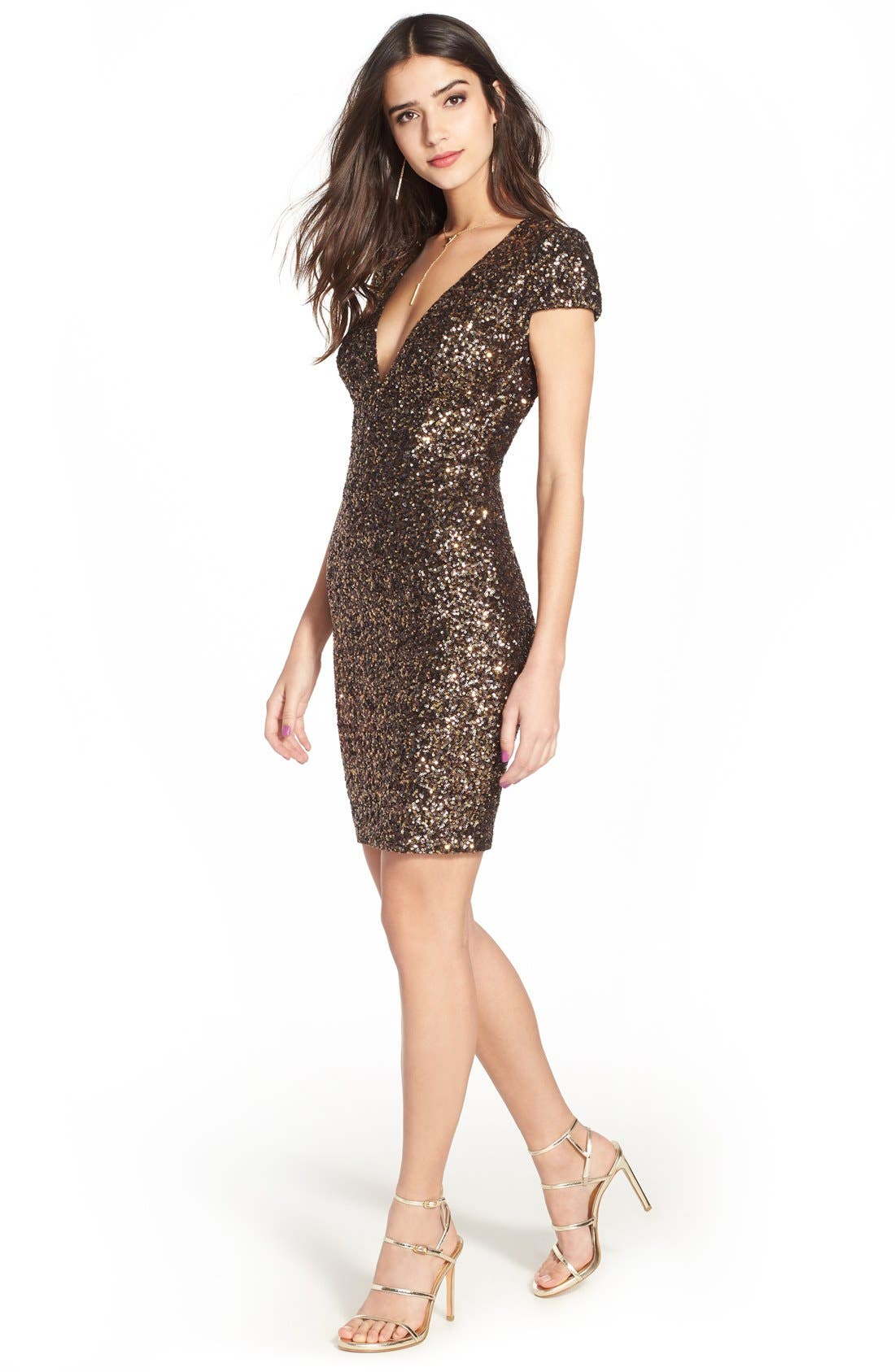 Alternate Image 3  - Dress the Population Zoe Sequin Minidress (Nordstrom Exclusive)