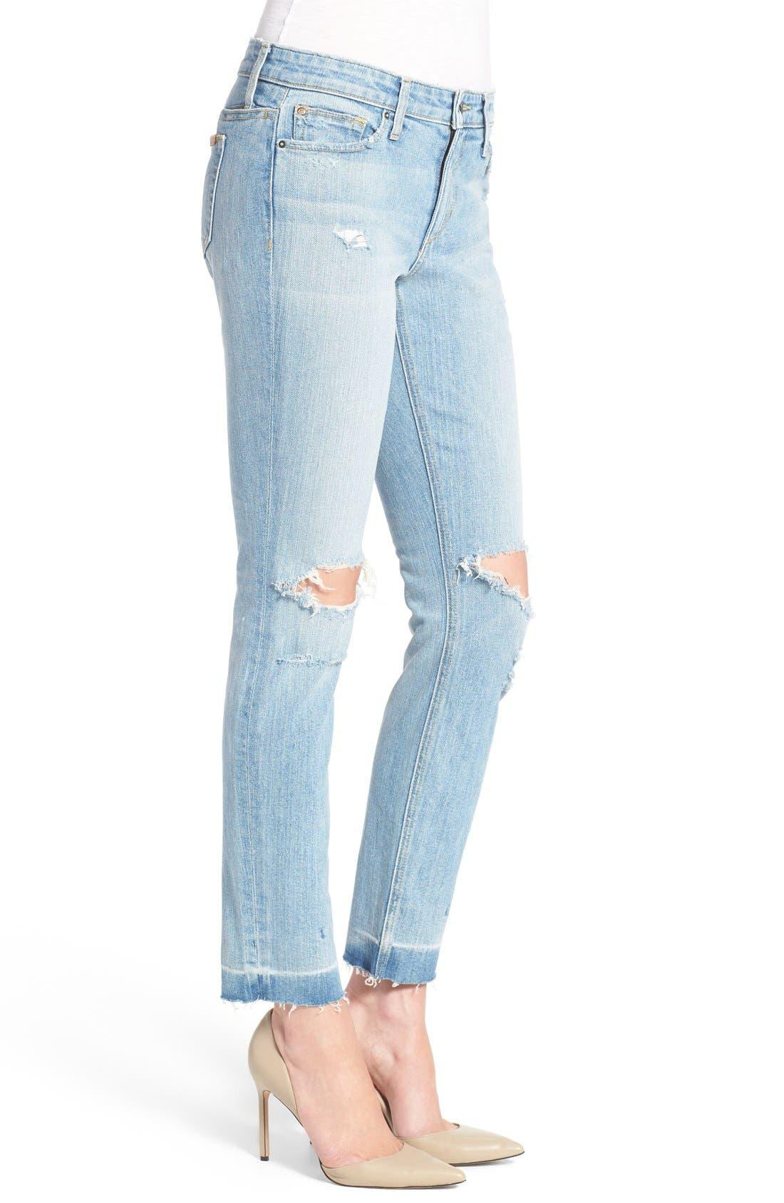 Alternate Image 3  - Joe's 'Icon' Destroyed Ankle Jeans (Margie)