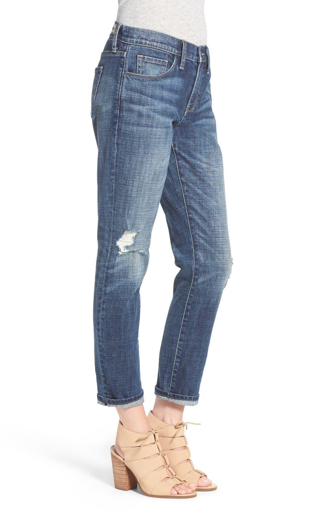 Alternate Image 3  - Treasure&Bond Ankle Boyfriend Jeans (Rustic Dusk Destroy)