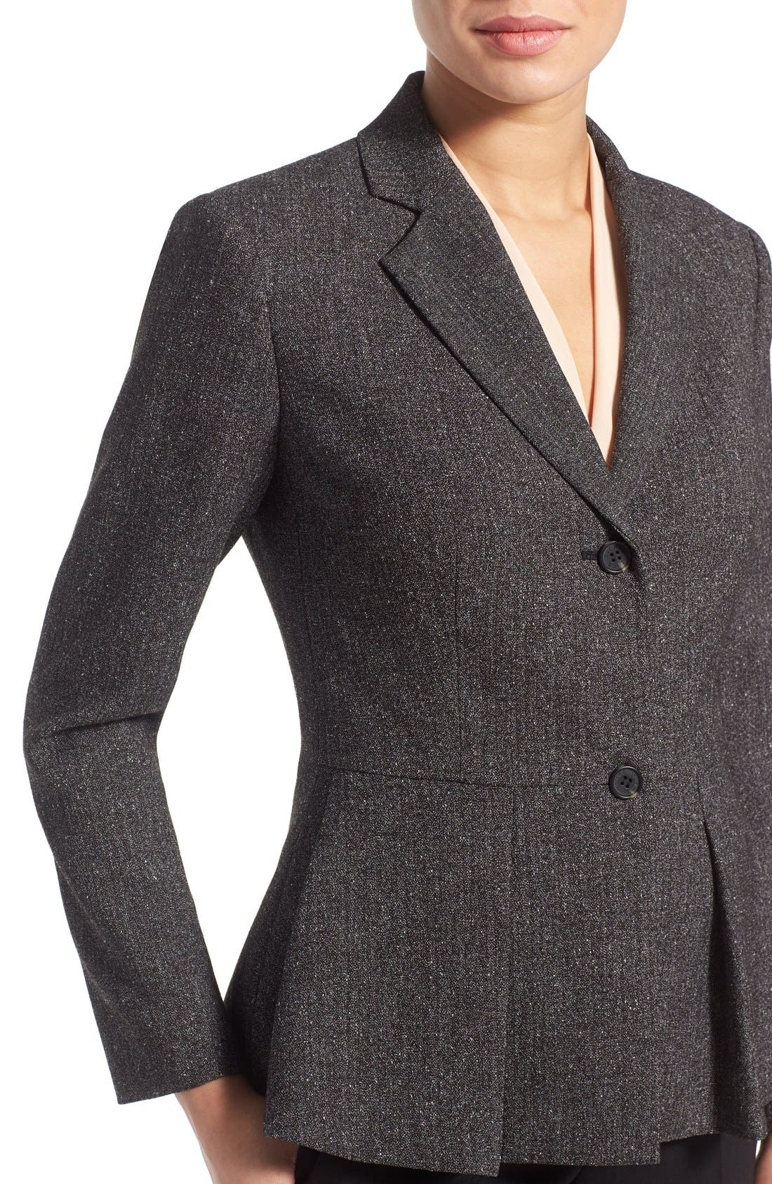 Alternate Image 5  - Vince Camuto Tweed Peplum Blazer (Regular & Petite)
