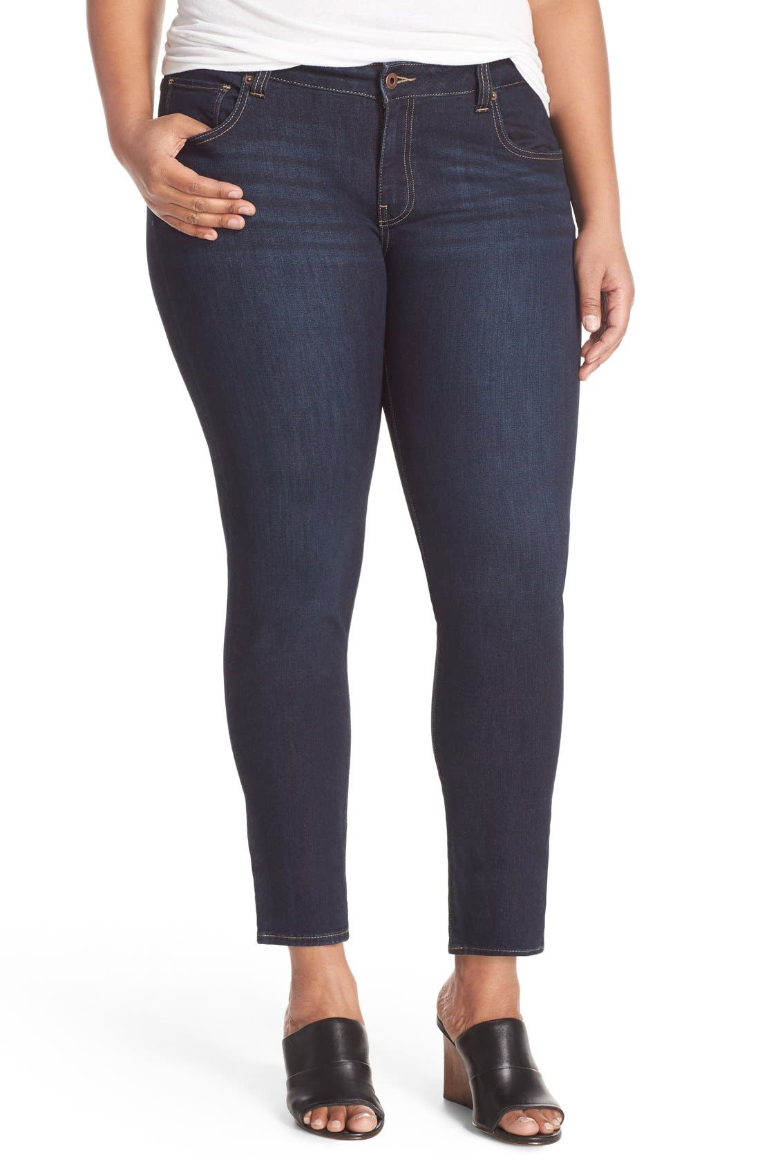 Alternate Image 1 Selected - Lucky Brand Ginger Stretch Skinny Jeans (Plus Size)