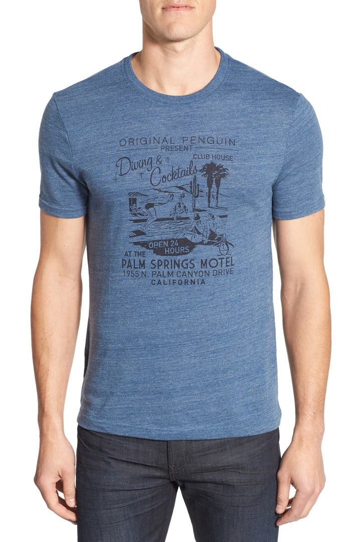 Original penguin 39 palm springs pool party 39 trim fit for T shirt city palm springs