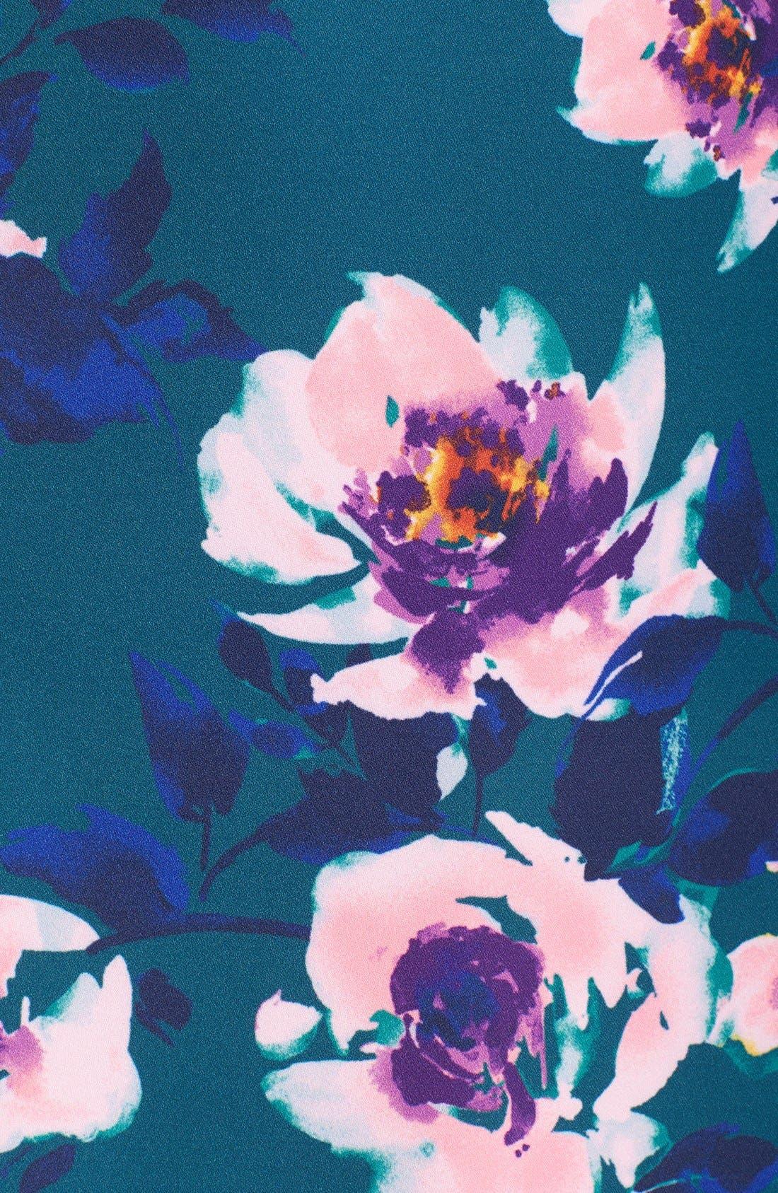 Alternate Image 6  - Charles Henry Floral Print Halter Dress