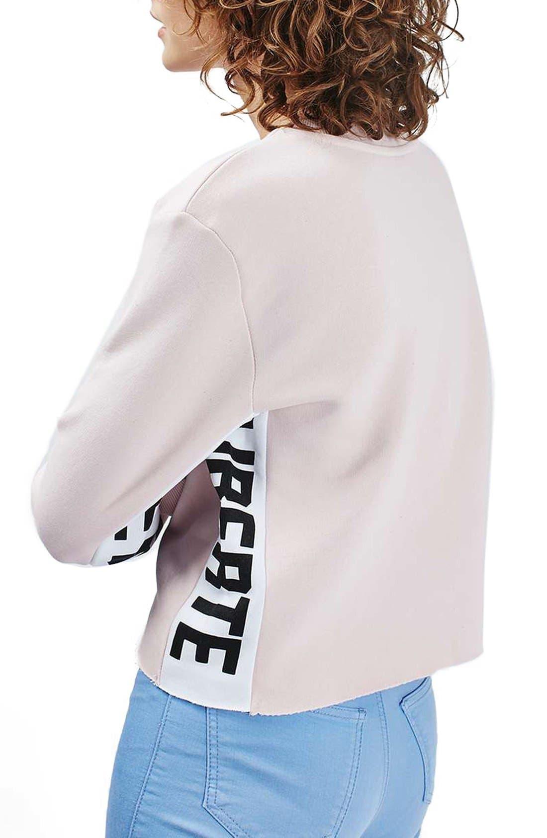 Alternate Image 3  - Topshop 'Femme Liberté' Crop Sweatshirt