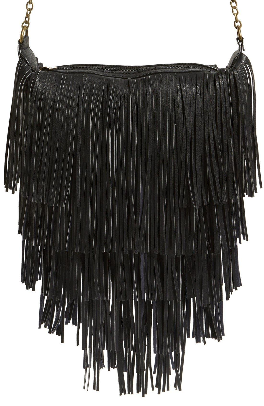 Alternate Image 1 Selected - NU-G 'Boho Fringe' Crossbody Bag
