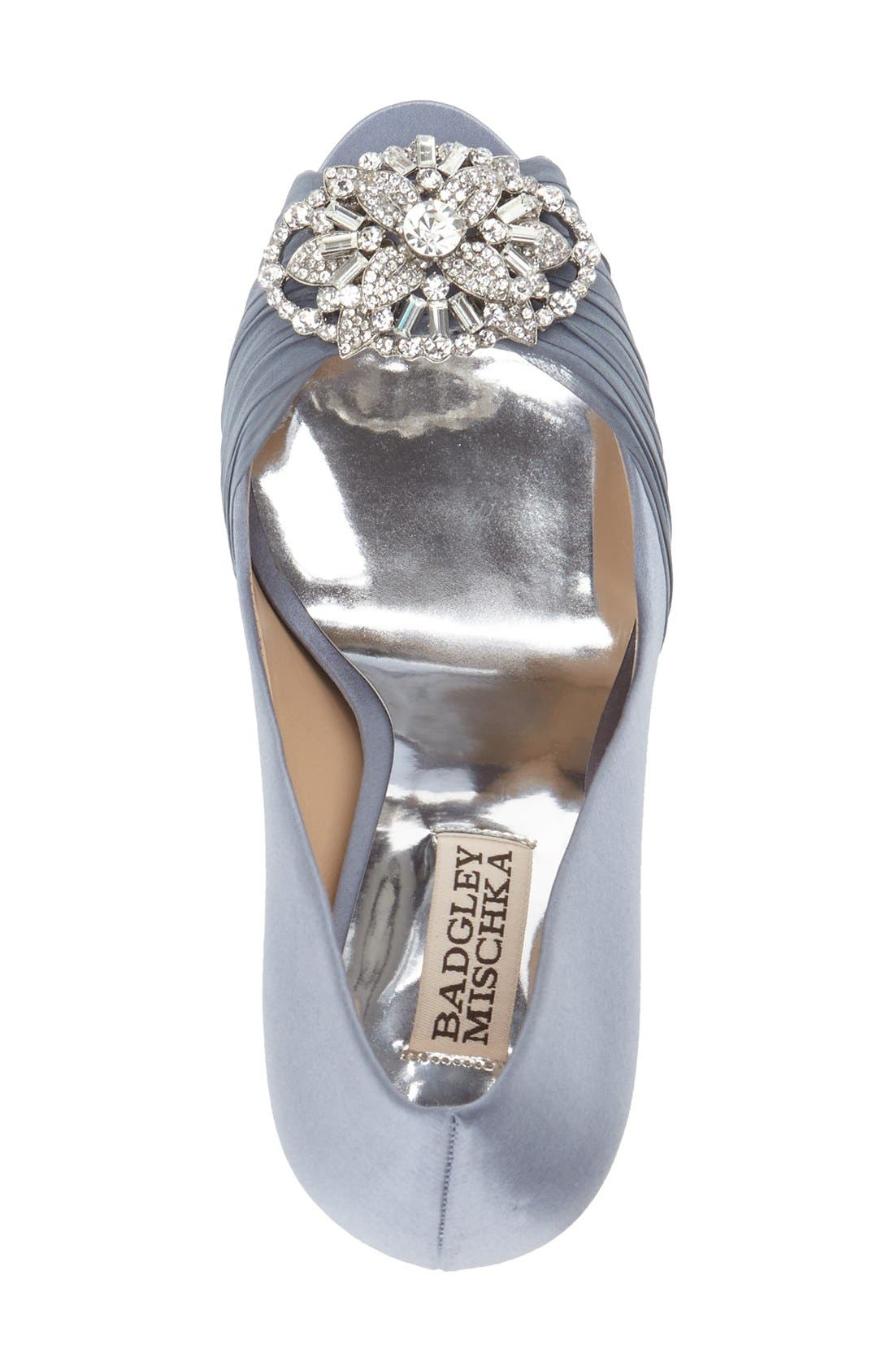 Alternate Image 3  - Badgley Mischka 'Desi' Peep Toe Platform Pump (Women)