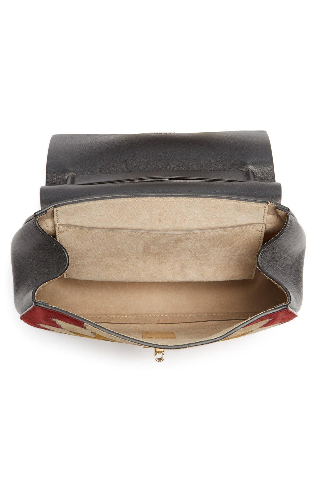 Alternate Image 4  - Chloé 'Small Drew' Wonder Woman Patchwork Suede & Leather Shoulder Bag