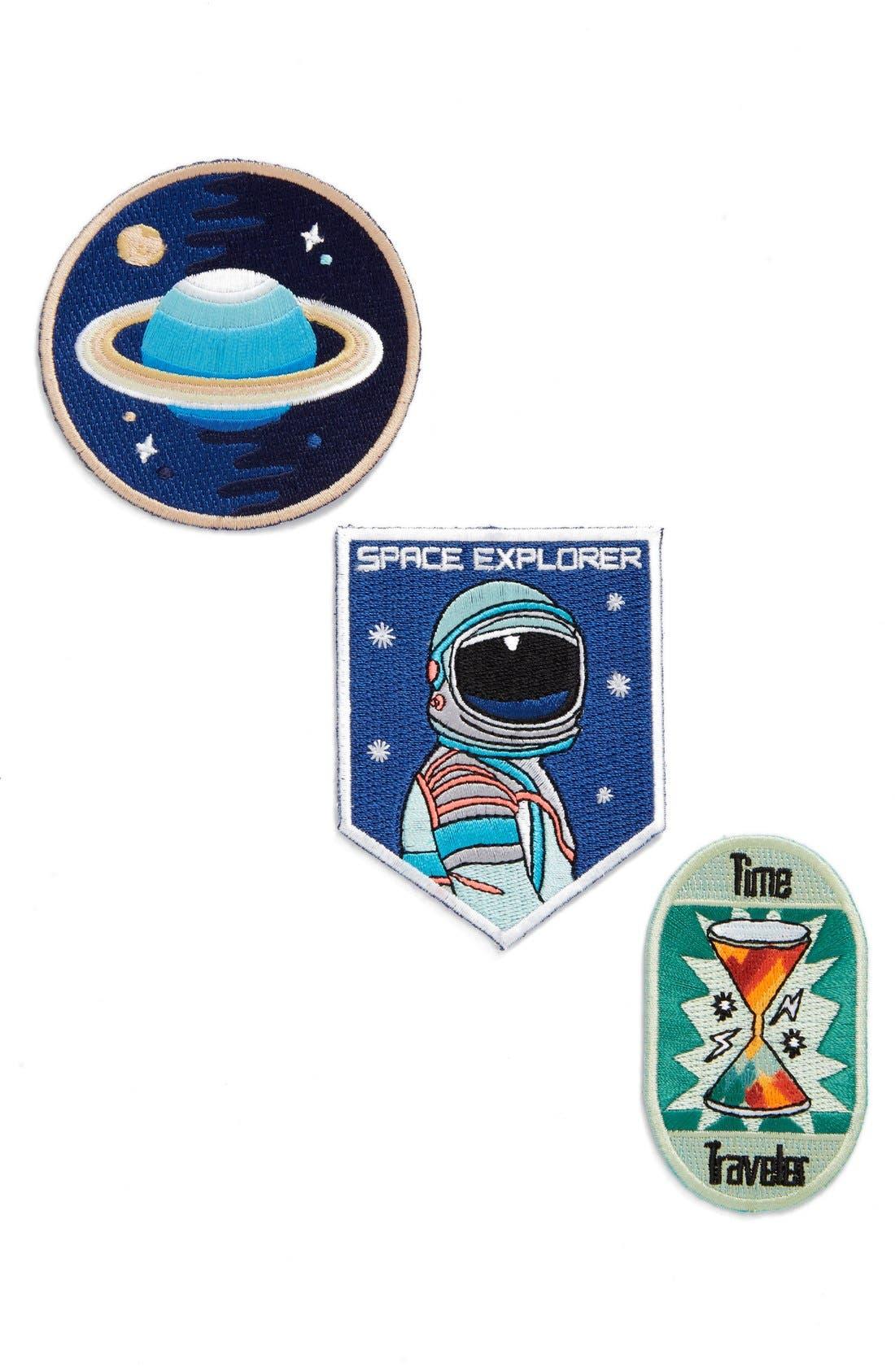 Main Image - Mokuyobi 'Space Traveler' Iron-On Patches (Set of 3)