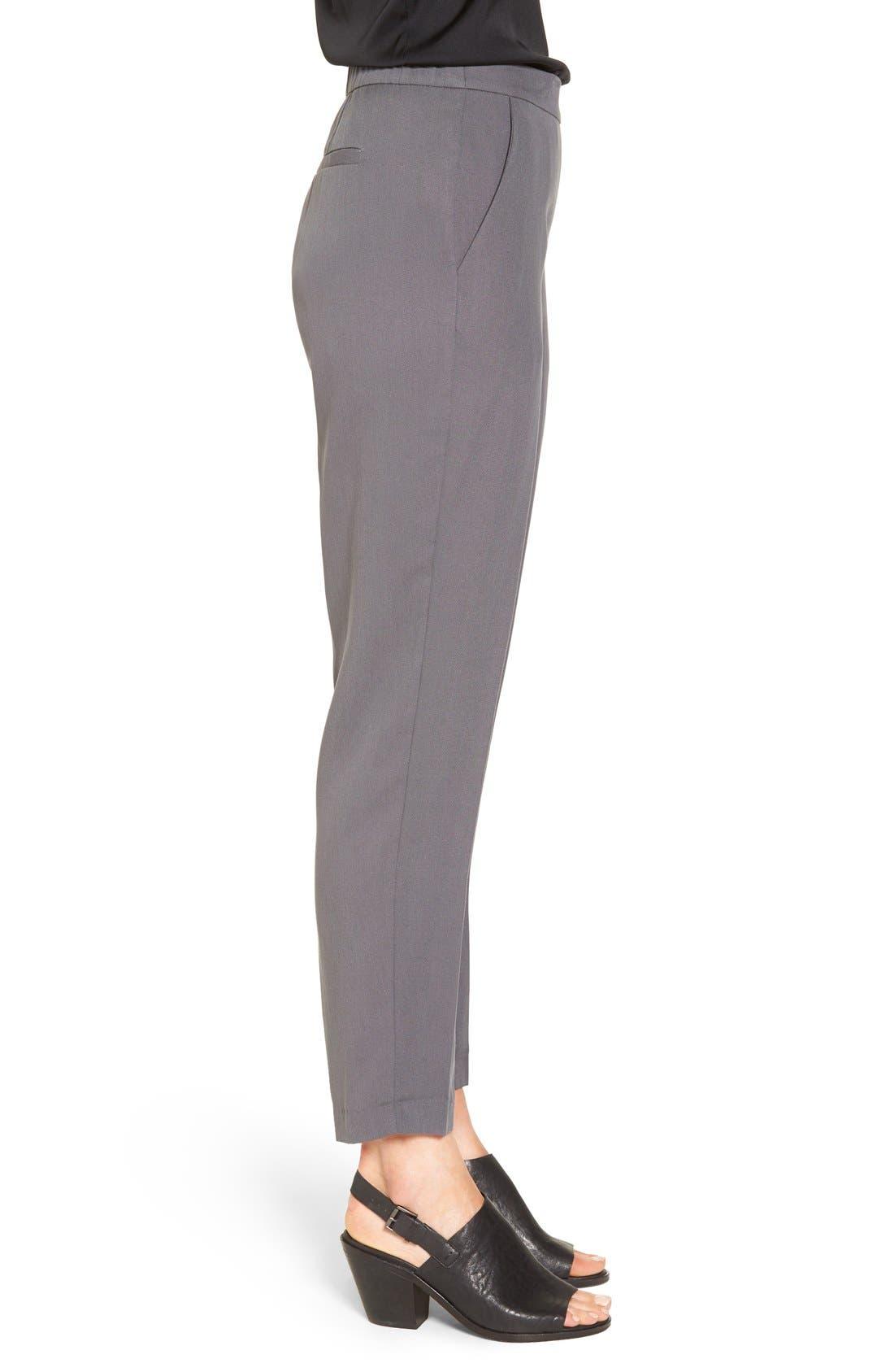 Alternate Image 3  - Eileen Fisher Woven Slim Leg Ankle Pants (Regular & Petite)