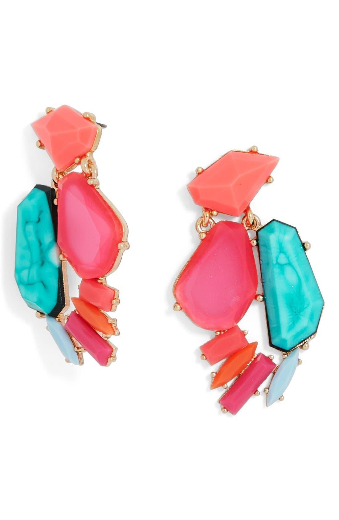 Alternate Image 1 Selected - BaubleBar 'Flo' Crystal Drop Earrings