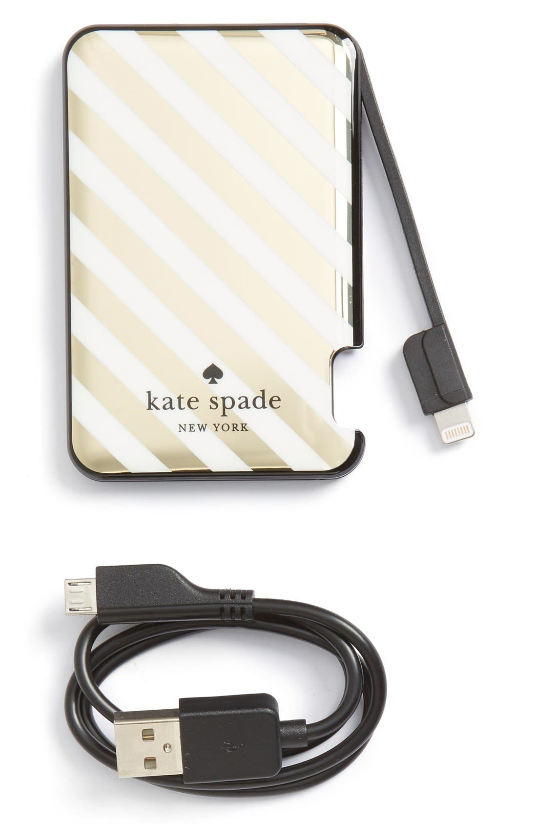 Alternate Image 1 Selected - kate spade new york slim portable charger