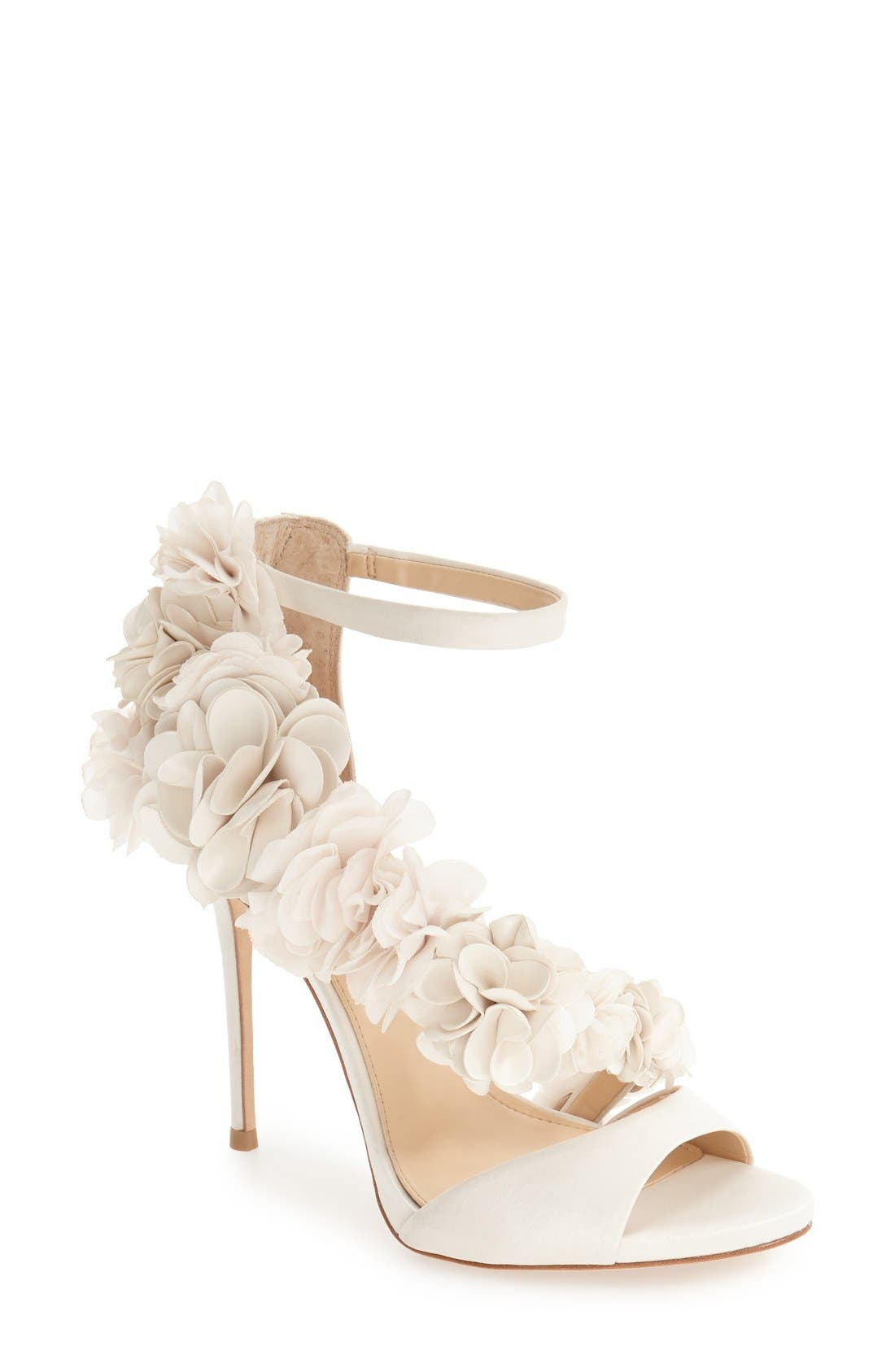 Alternate Image 1 Selected - Imagine by Vince Camuto 'Daphne' Floral Ankle Strap Sandal (Women)