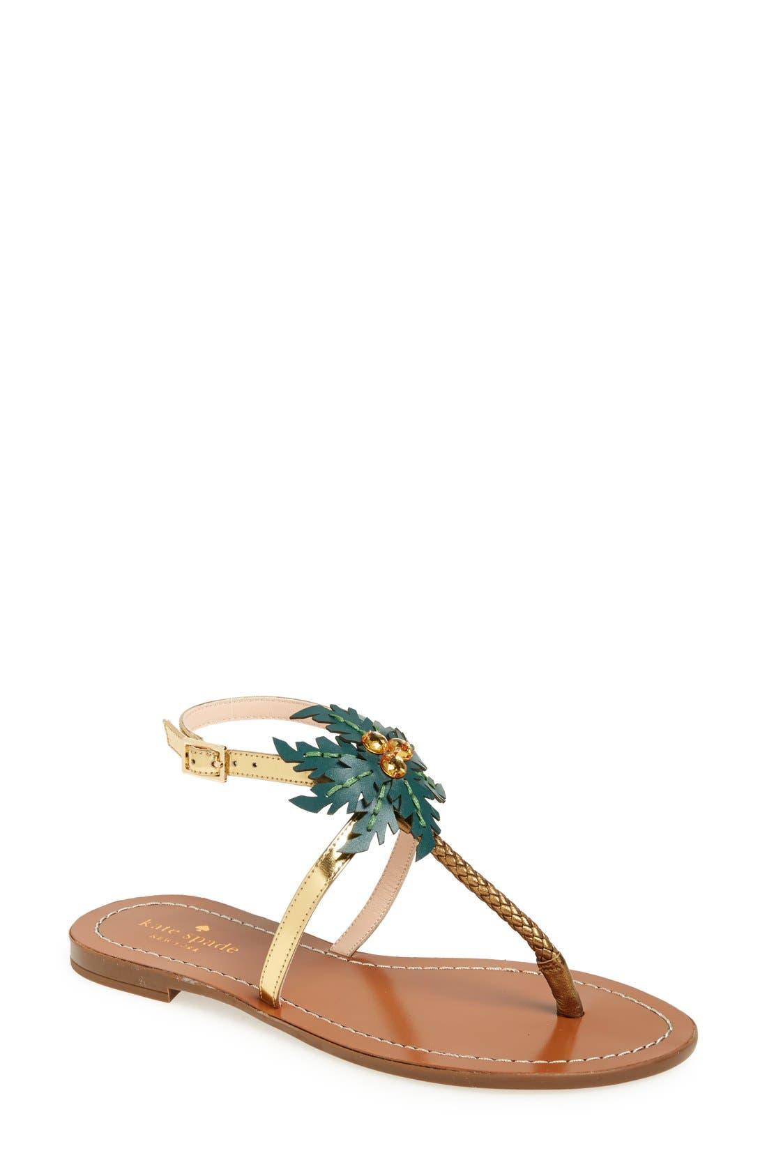 Main Image - kate spade new york 'solana' palm tree sandal (Women)