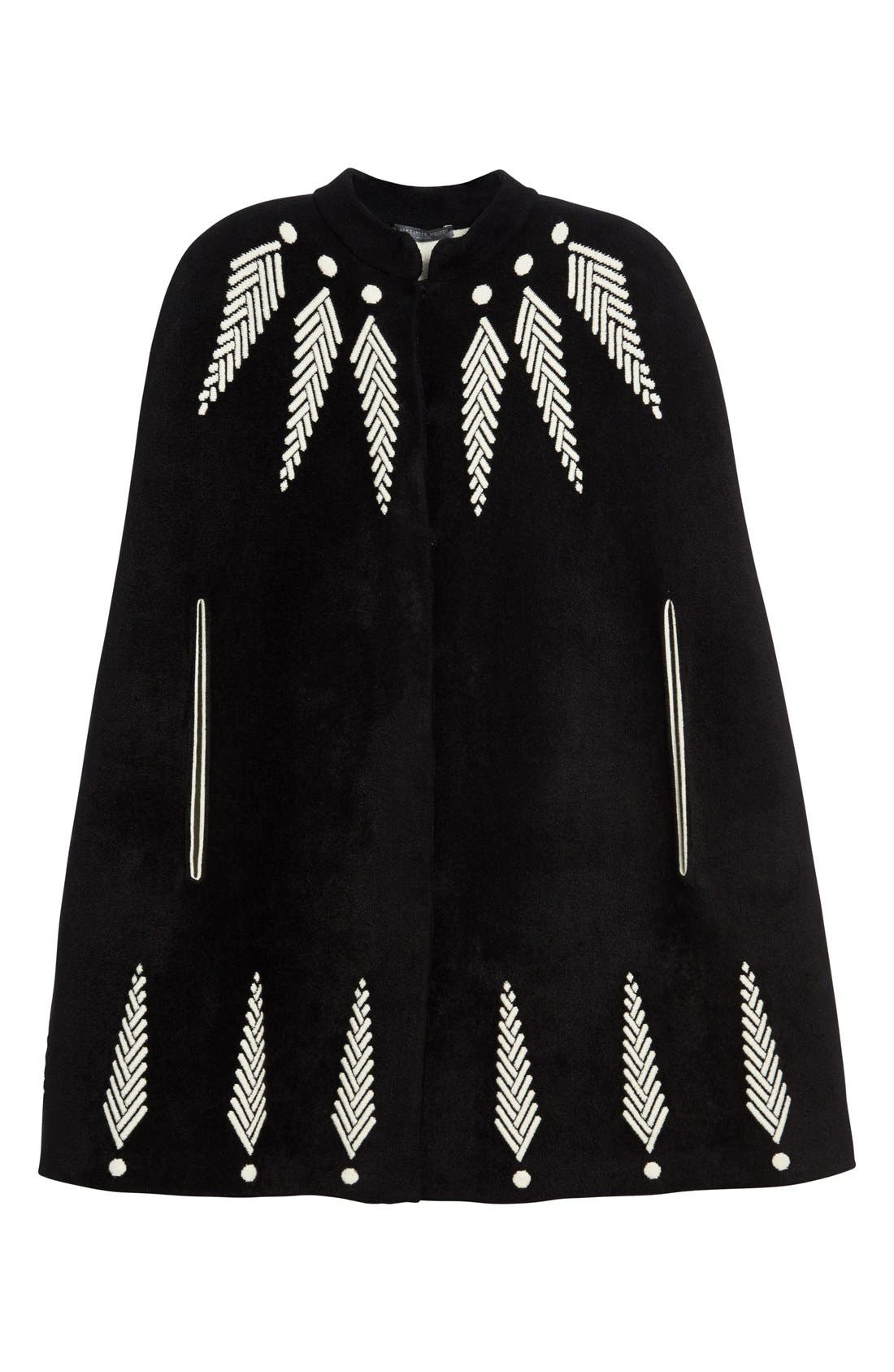 Alternate Image 4  - Alexander McQueen Feather Knit Cape