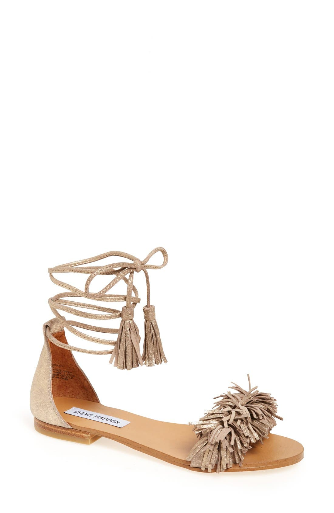 Alternate Image 1 Selected - Steve Madden 'Sweetyy' Lace-Up Sandal (Women)