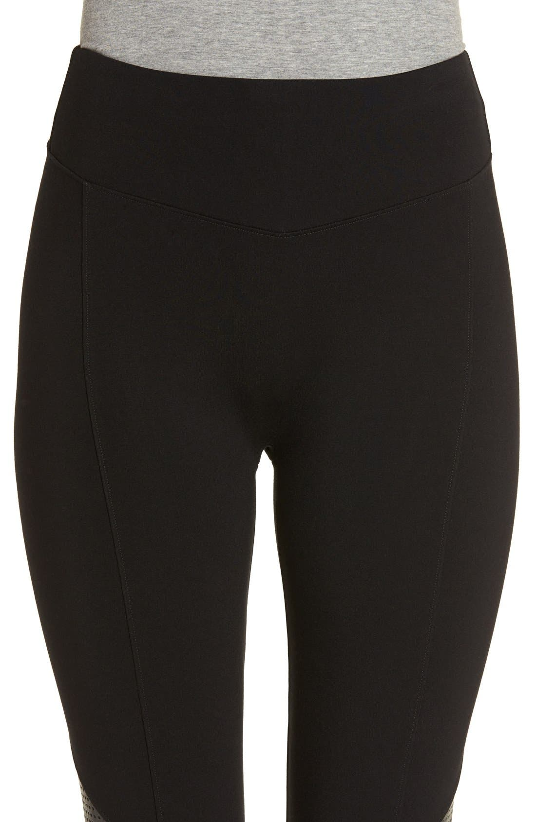 Alternate Image 4  - SPANX® High Waist Perforated Panel Leggings