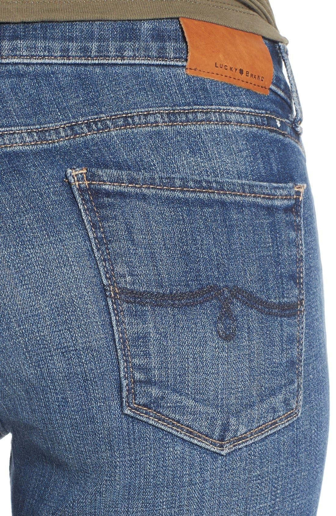 Alternate Image 5  - Lucky Brand 'Lolita' Distressed Stretch Skinny Jeans (Morrison)