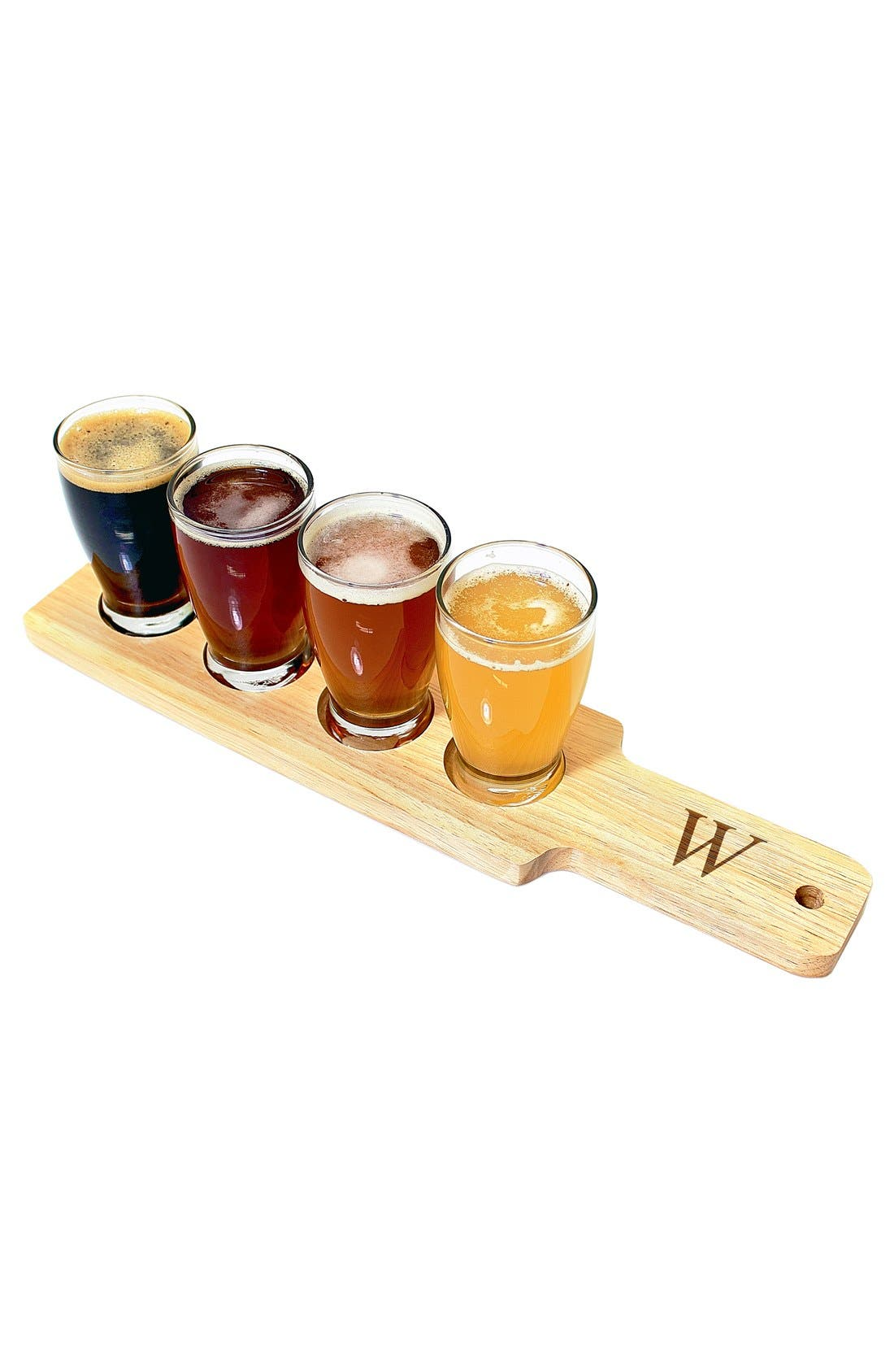 Alternate Image 3  - Cathy's Concepts Monogram Beer Flight Sampler Set