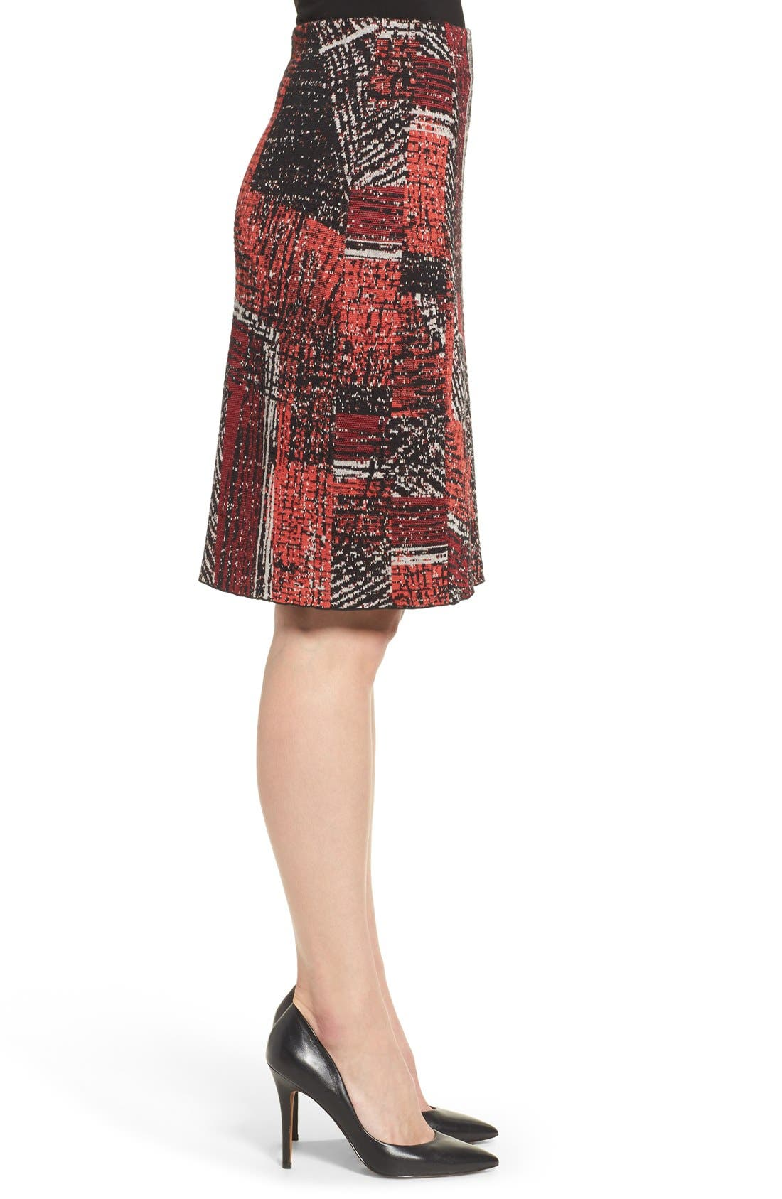 Alternate Image 3  - NIC+ZOE 'Making Marks' Print Knit Pencil Skirt (Regular & Petite)