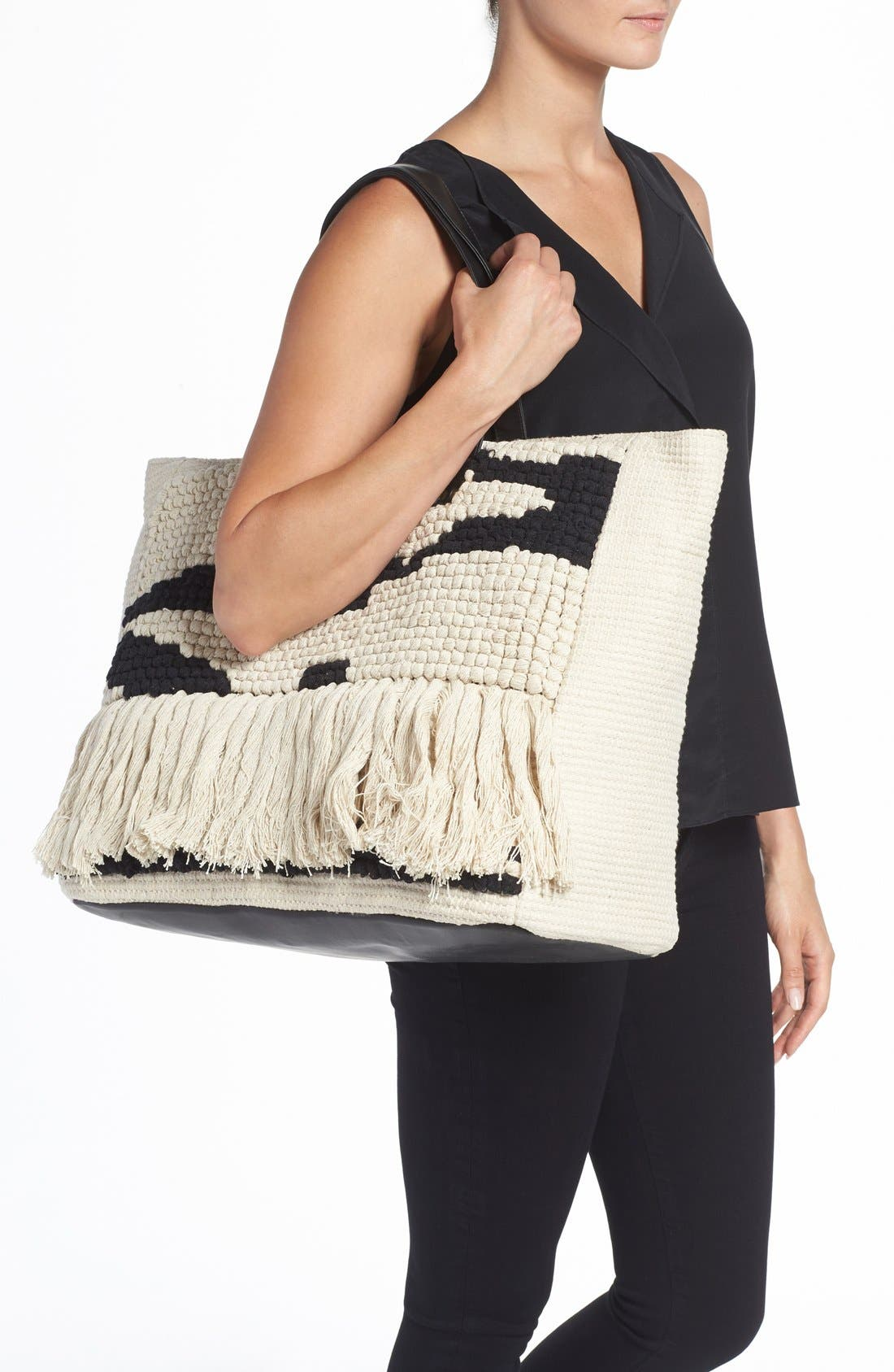 Alternate Image 2  - Amuse Society Woven Tote