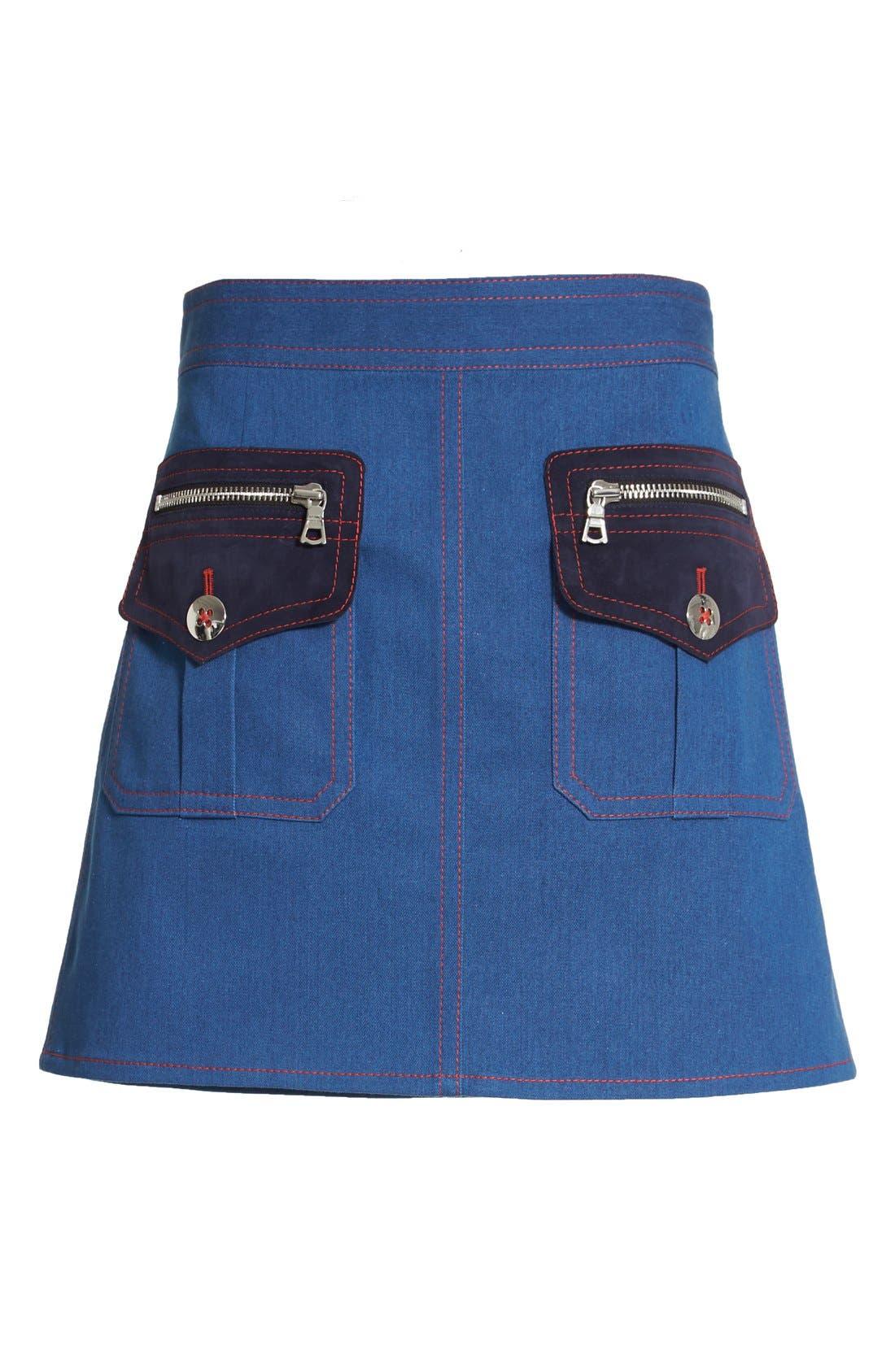 Alternate Image 4  - MARC JACOBS Patch Pocket Denim Skirt