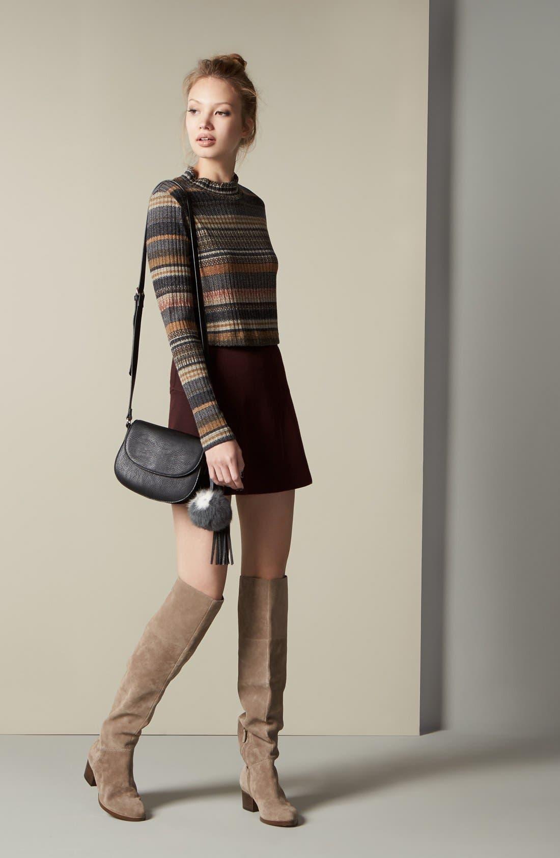 Alternate Image 2  - Mimi Chica Stripe Mock Neck Sweater