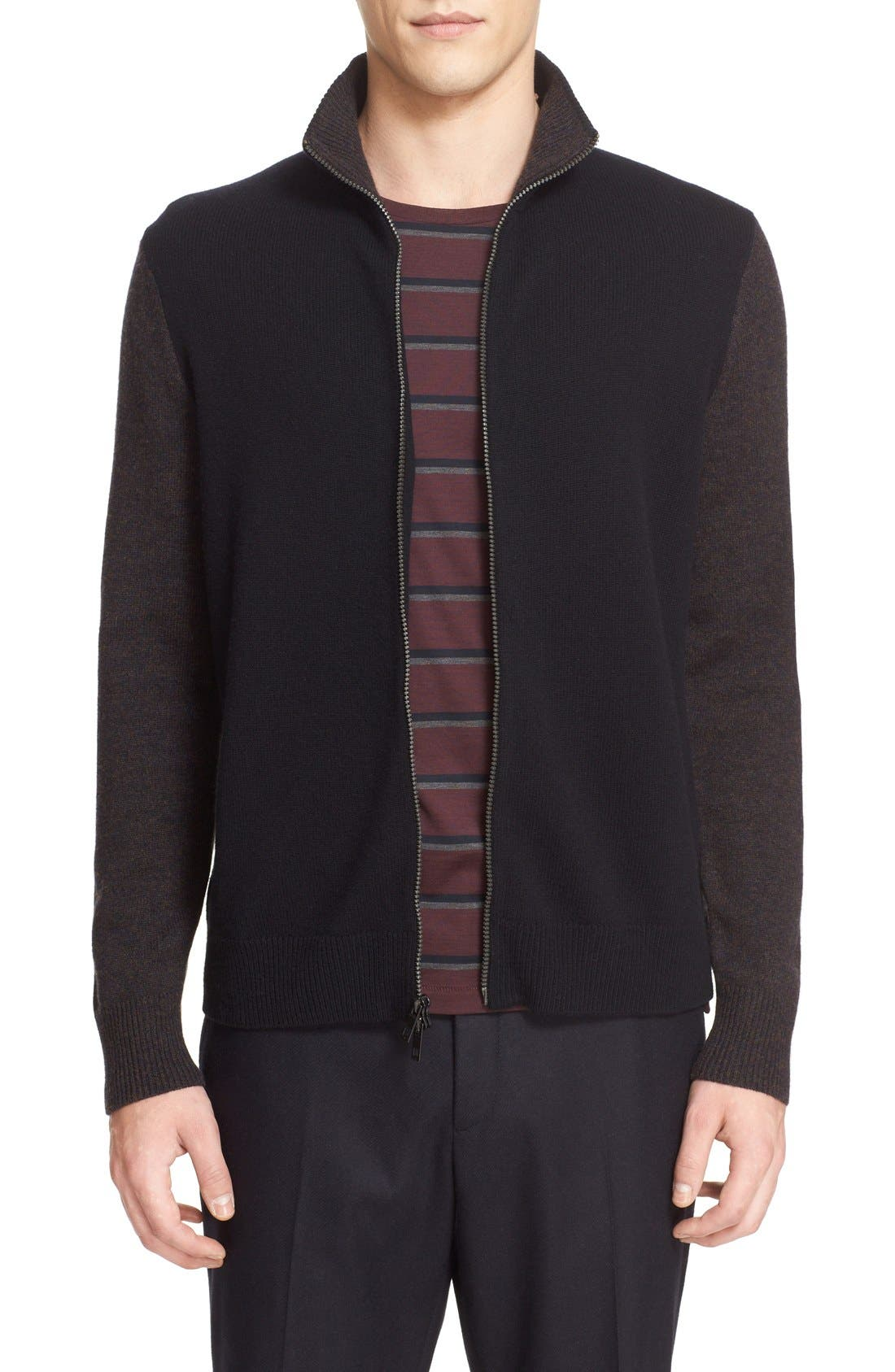 RAG & BONE 'Lance' Colorblock Full Zip Cardigan
