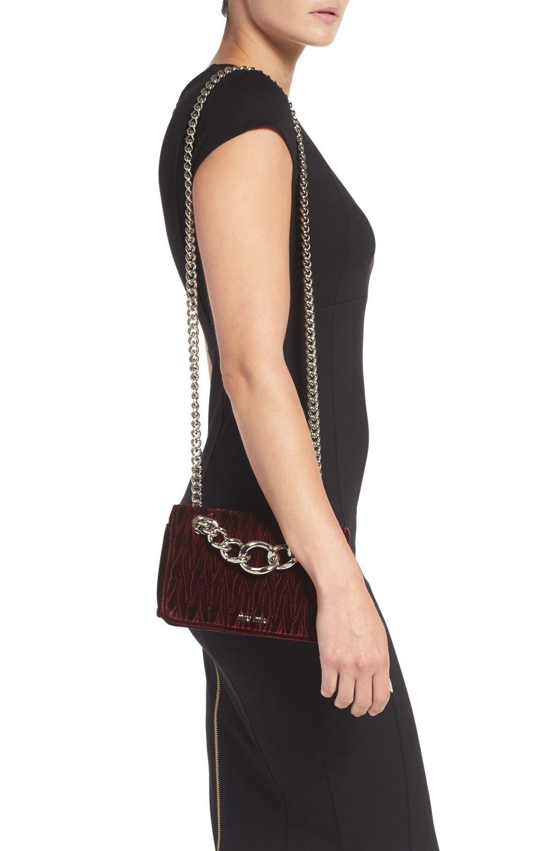 Alternate Image 2  - Miu Miu 'Small Club' Matelassé Velvet Shoulder Bag